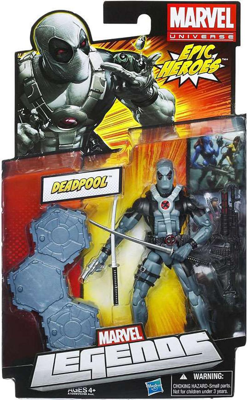 Marvel Legends 2012 Series 3 Epic Heroes Deadpool Action Figure [X-Force Black & Gray Suit]