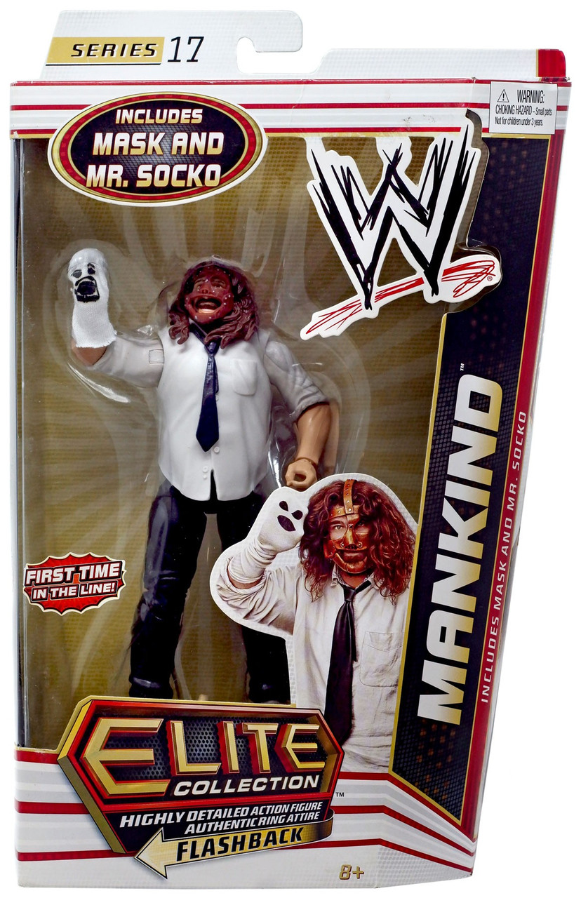 WWE Wrestling Elite Series 17 Mankind Action Figure [Mask & Mr. Socko]