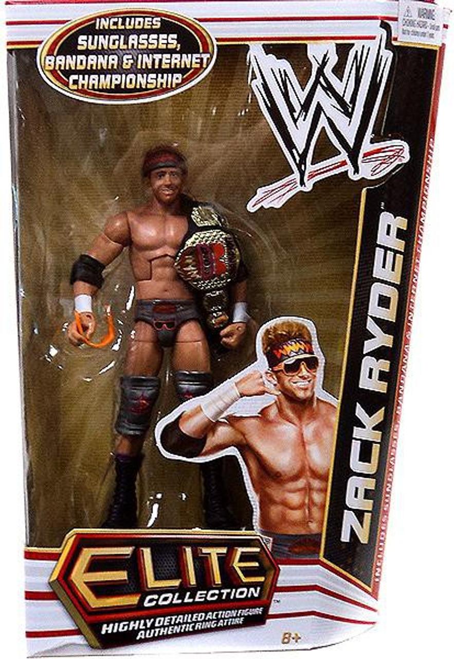 WWE Wrestling Elite Series 17 Zack Ryder Action Figure [Sunglasses, Bandana & Internet Championship Belt]