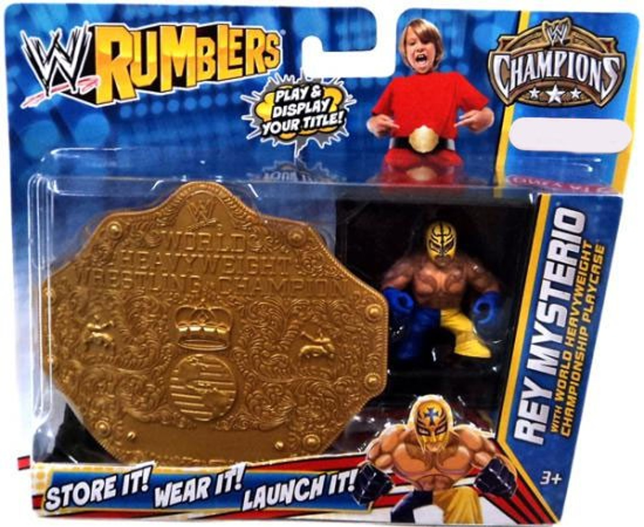 WWE Wrestling Rumblers Champions Rey Mysterio Exclusive Mini Figure