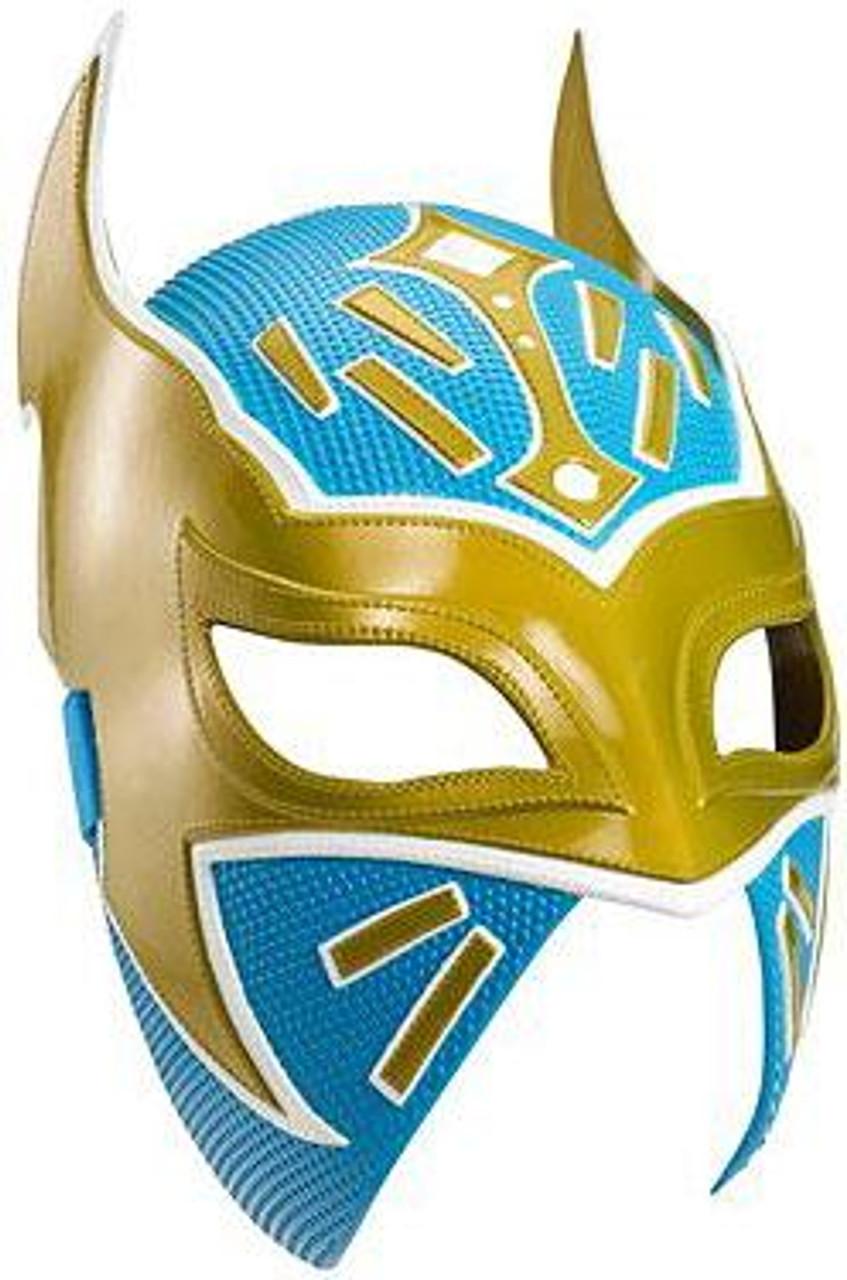 WWE Wrestling Costumes Sin Cara Replica Mask [Gold & Blue]