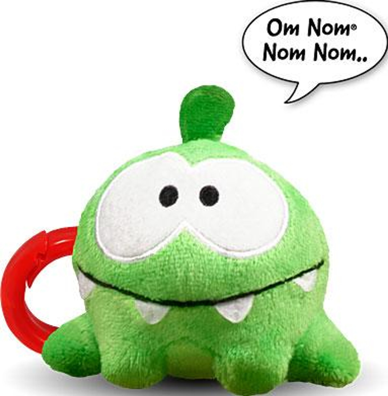Cut the Rope Om Nom 3-Inch Plush Clip On [Smile, Talking]