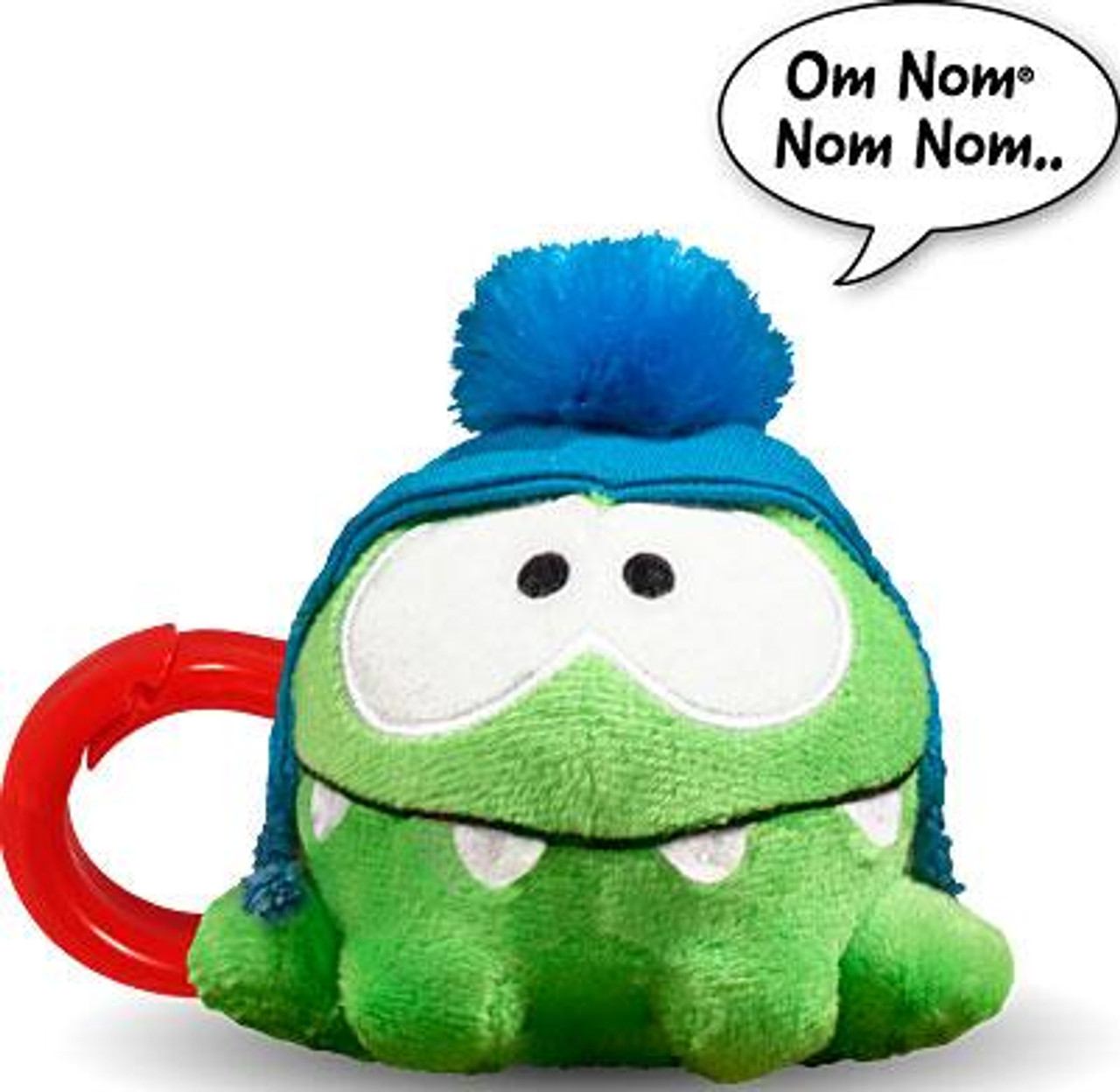 Cut the Rope Om Non 3-Inch Plush Clip On [Blue Hat, Talking]