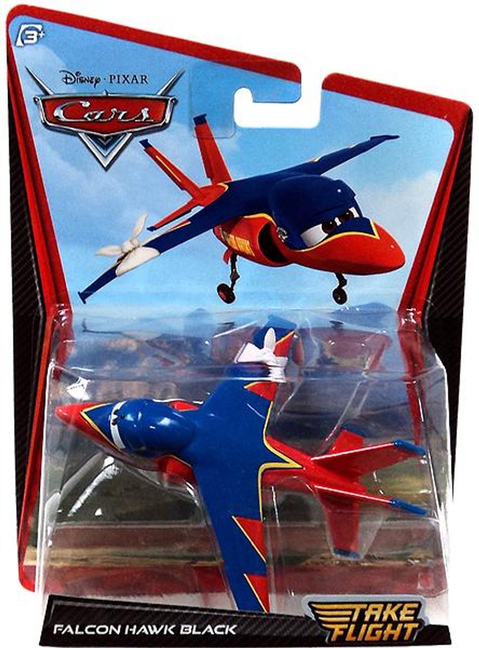Disney Cars Take Flight Falcon Hawk Black Diecast Car