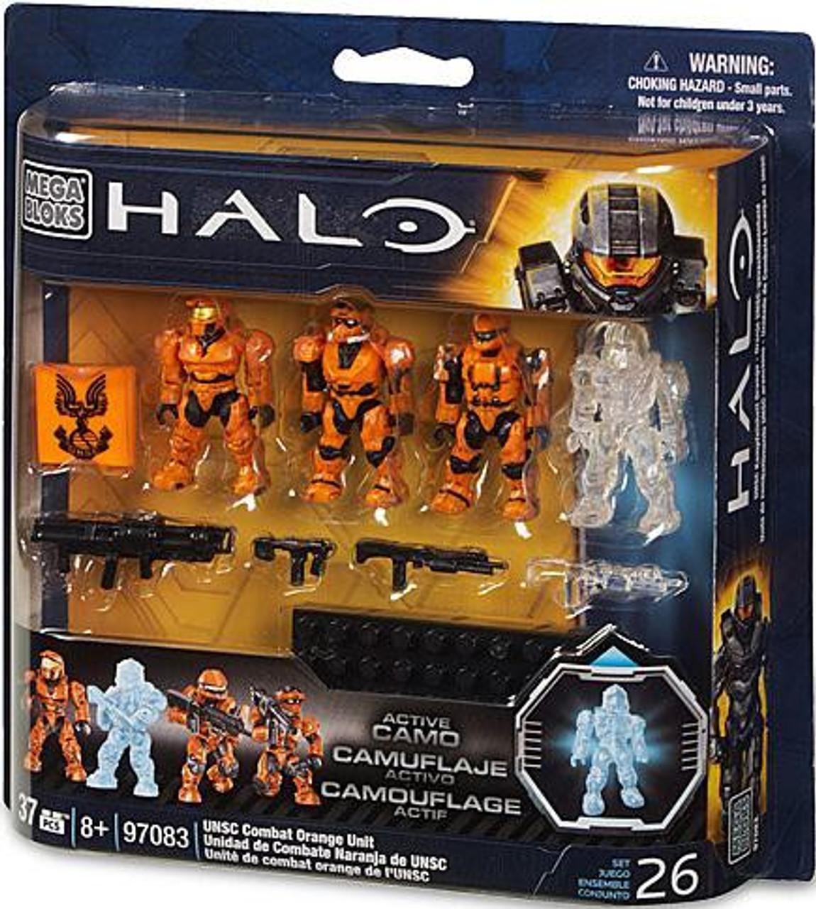 Mega Bloks Halo UNSC Combat Orange Unit Set #97083