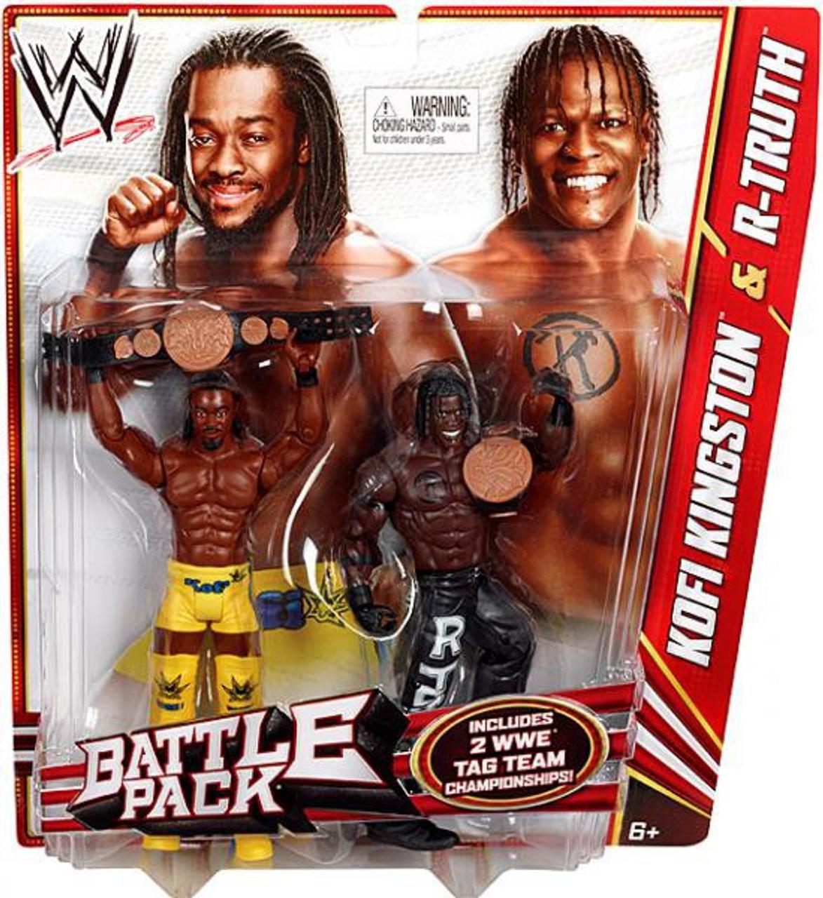 WWE Wrestling Series 20 Kofi Kingston & R-Truth Action Figure 2-Pack [2 WWE Tag Team Championships]