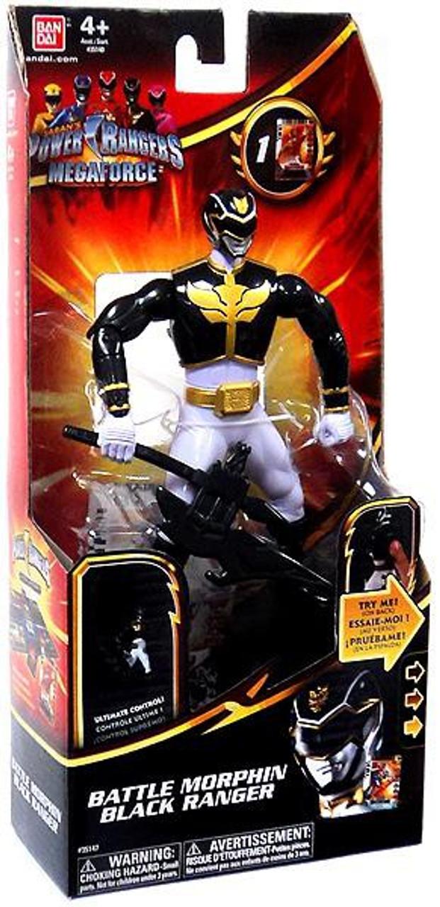Power Rangers Megaforce Deluxe Battle Morphin Black Ranger Action Figure