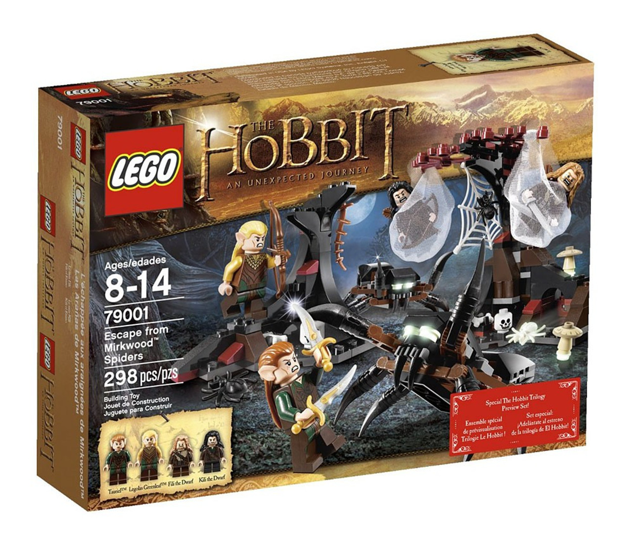 LEGO The Hobbit Escape from Mirkwood Spiders Set #79001