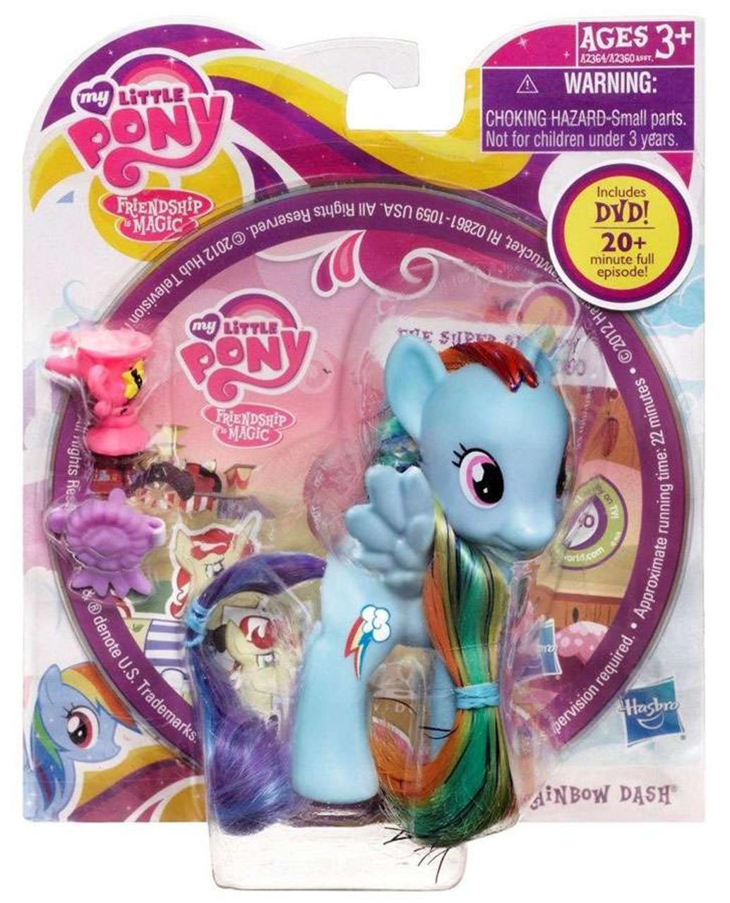 My Little Pony Friendship is Magic DVD Packs Rainbow Dash Figure [With Ribbon]
