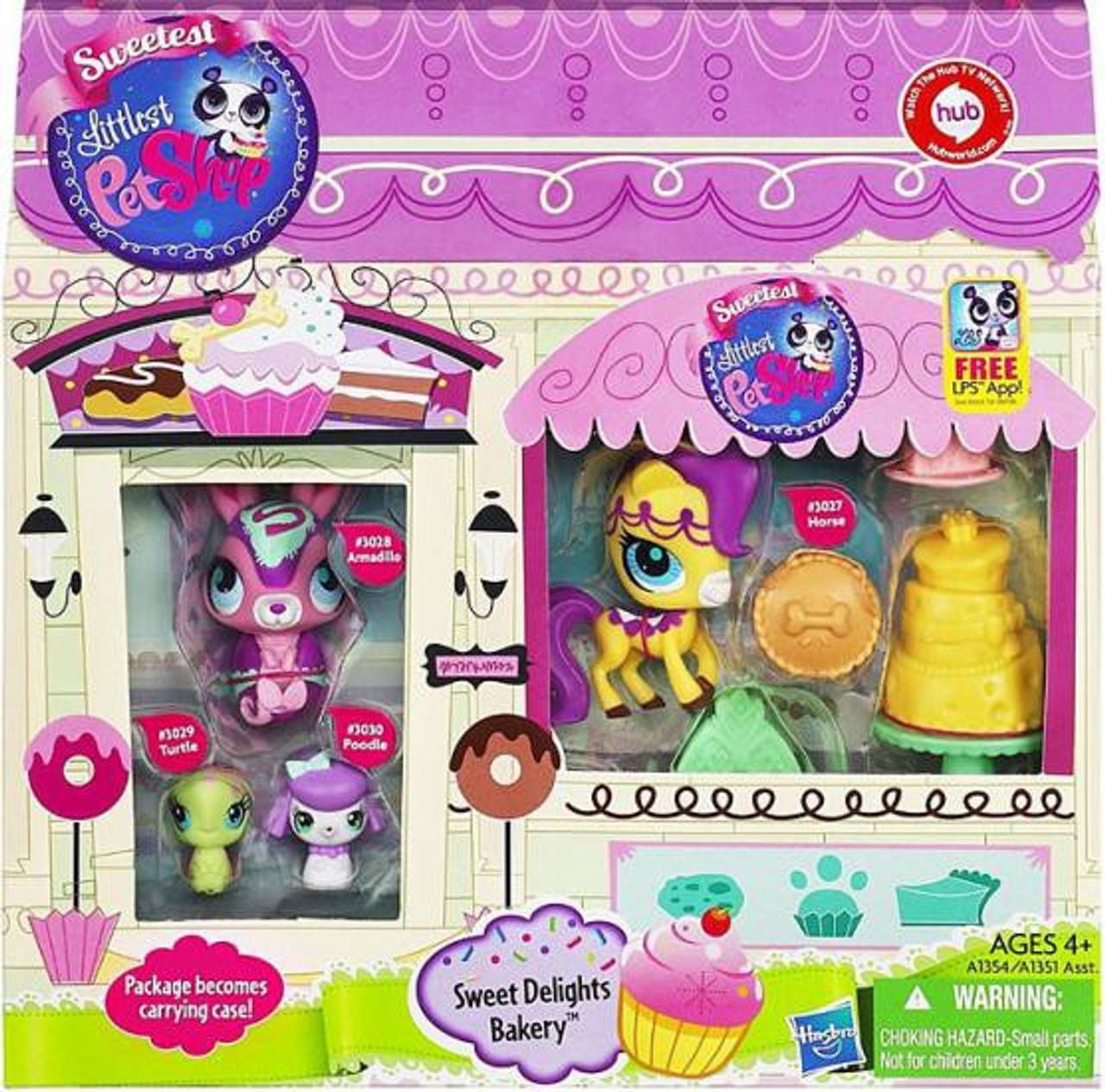 Littlest Pet Shop Sweet Delights Bakery Figure Set