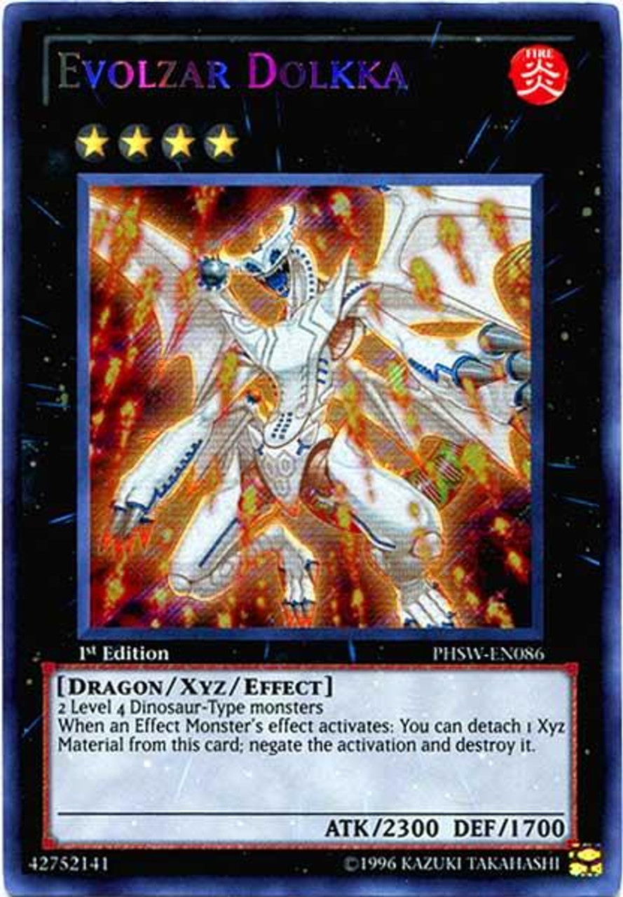 YuGiOh Zexal Photon Shockwave Secret Rare Evolzar Dolkka PHSW-EN086