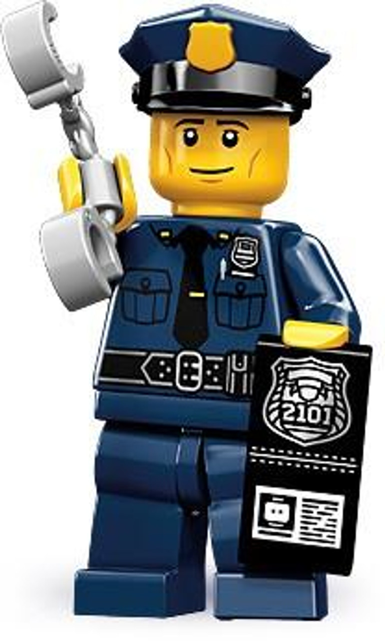 LEGO Minifigures Series 9 Policeman with Handcuffs & Badge with I.D. Minifigure [Loose]