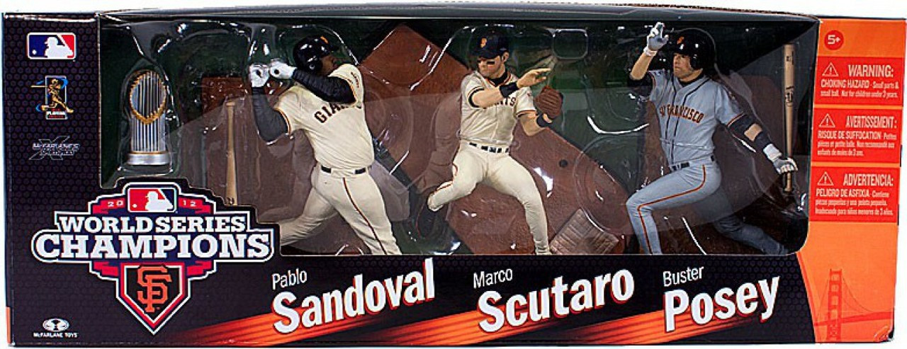 McFarlane Toys MLB San Francisco Giants Sports Picks Exclusive 3-Pack 2012 World Series Champions Exclusive Action Figure 3-Pack