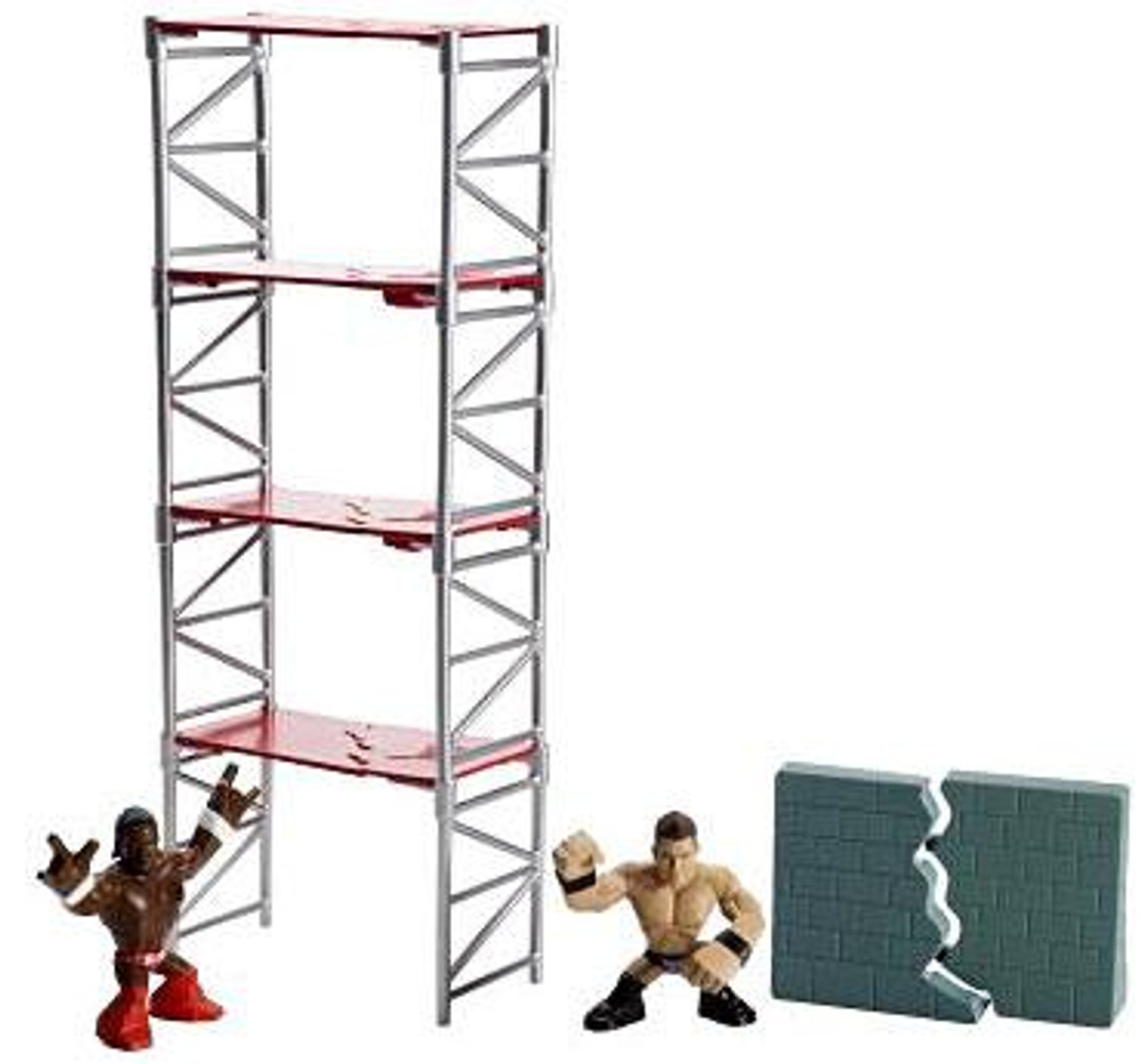 WWE Wrestling Rumblers Rampage Scaffold Smash Mini Figure Playset