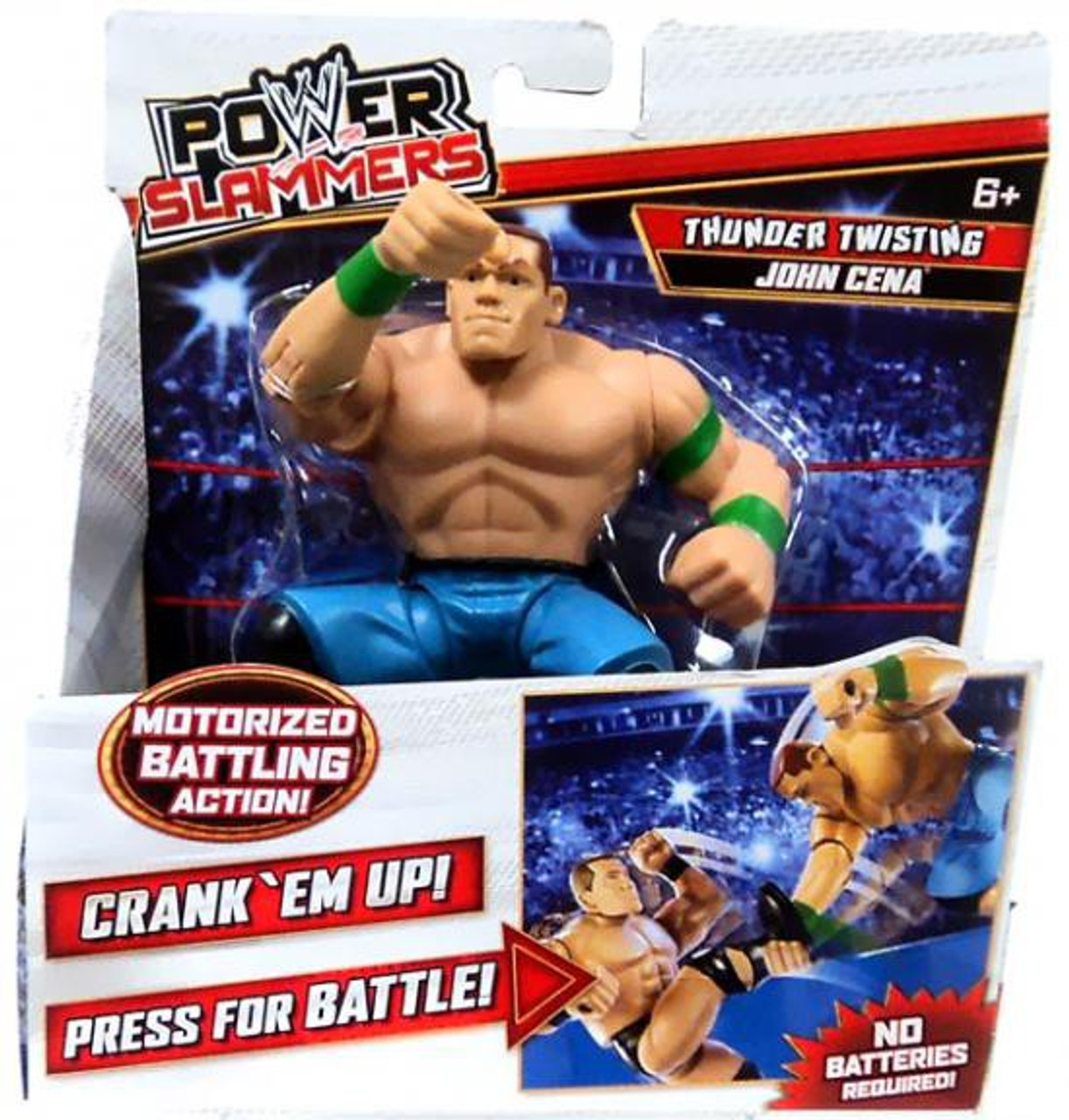 WWE Wrestling Power Slammers Thunder Twisting John Cena Action Figure