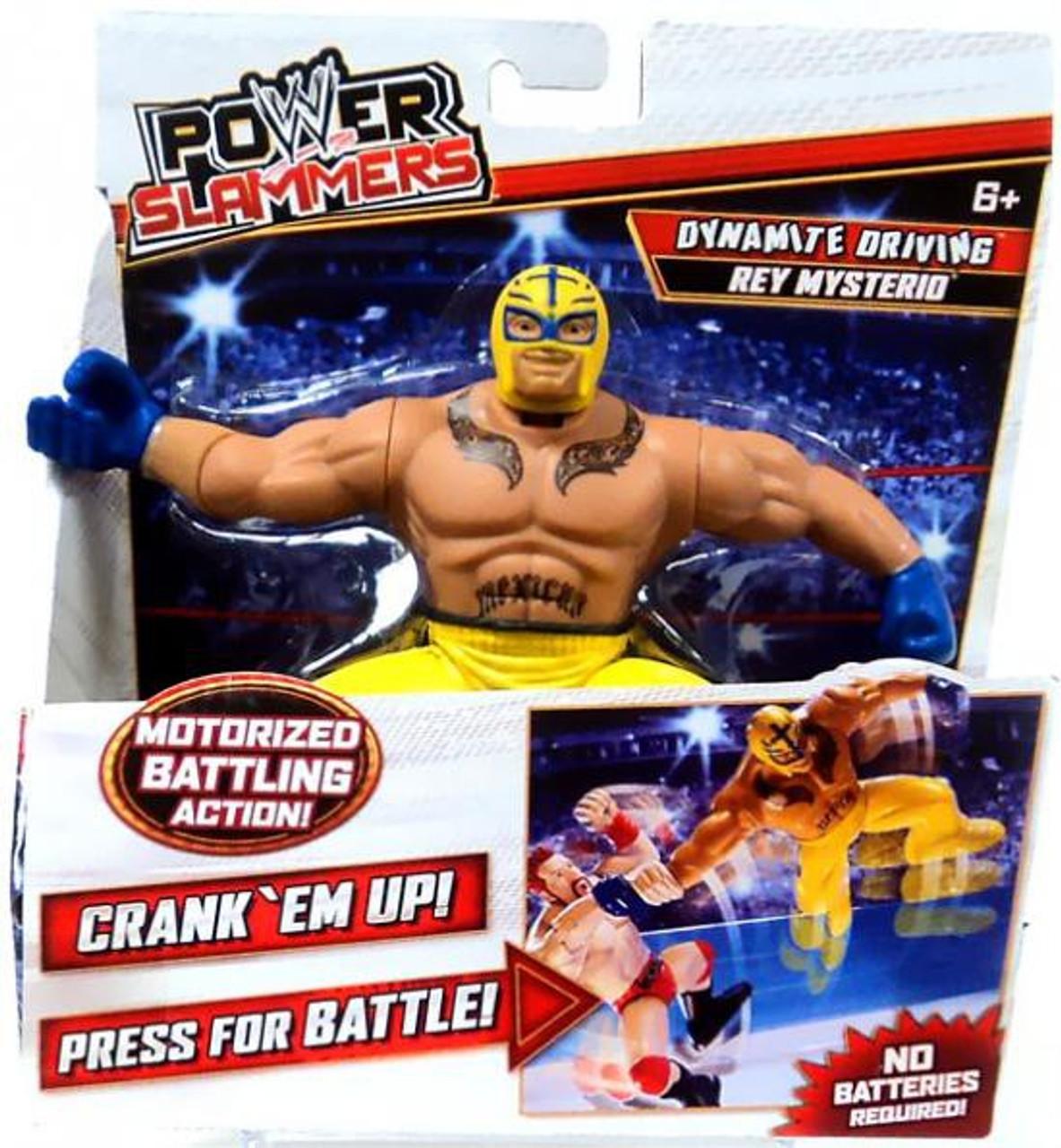 WWE Wrestling Power Slammers Dynamite Driving Rey Mysterio Action Figure