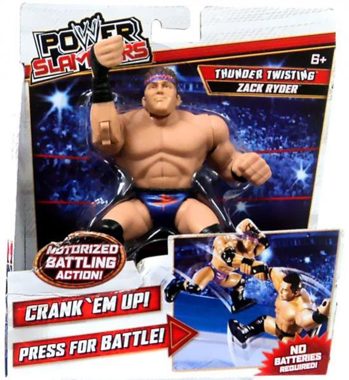 WWE Wrestling Power Slammers Thunder Twisting Zack Ryder Action Figure