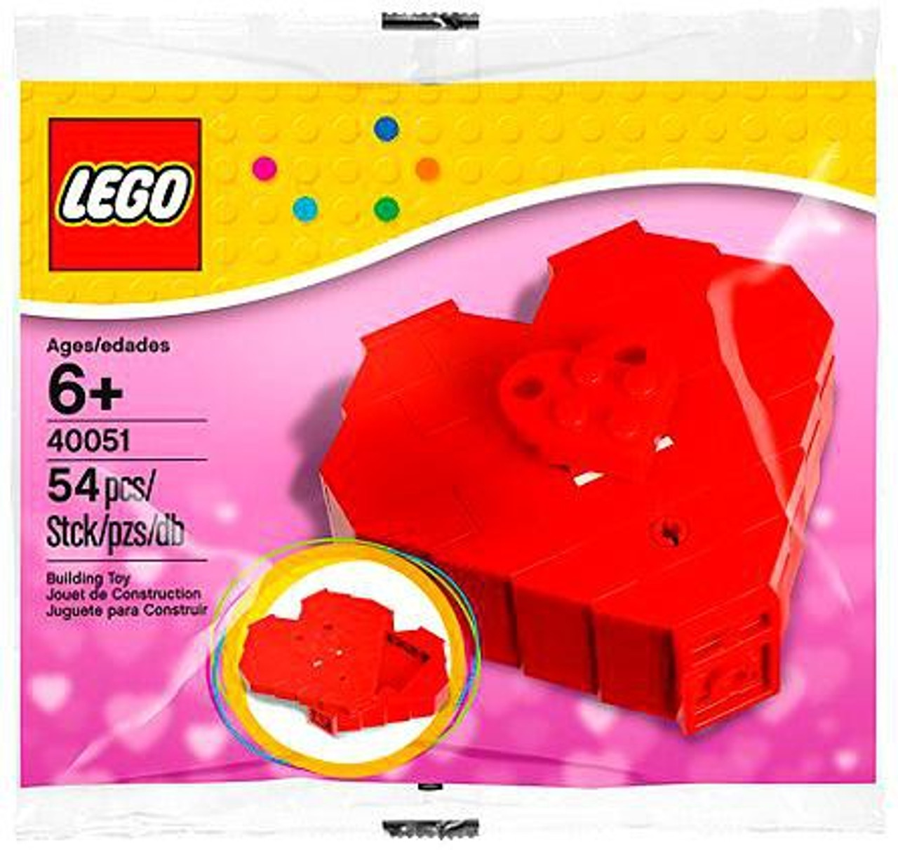 LEGO Valentine's Day Heart Box Mini Set #40051 [Bagged]