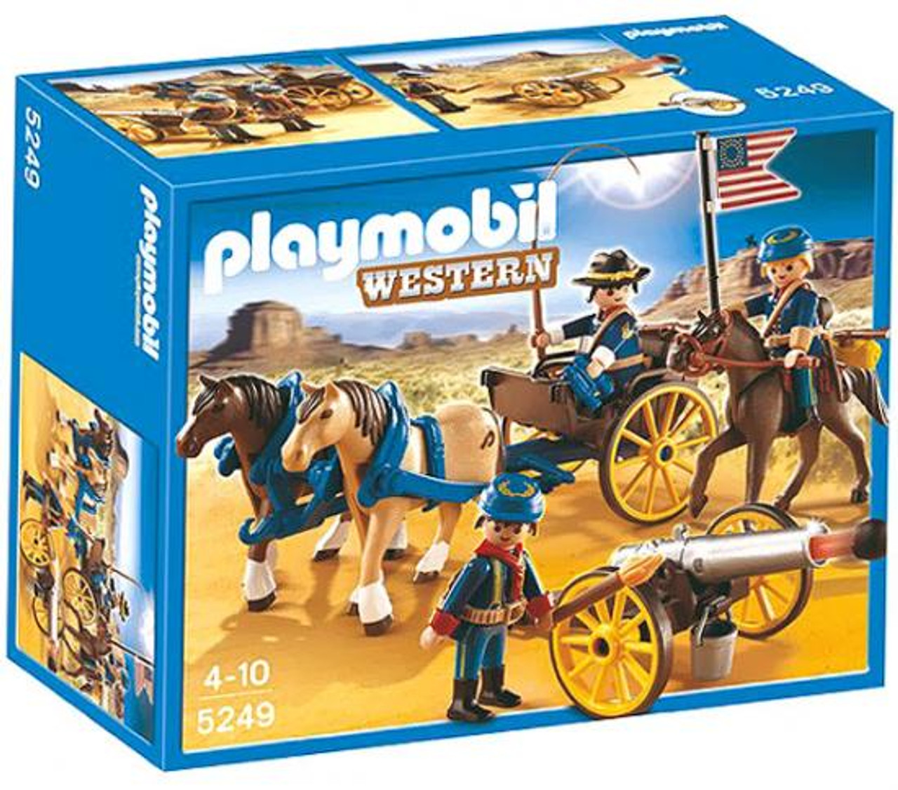 Playmobil Western Horse-Drawn Carriage & Cavalry Rider Set #5249