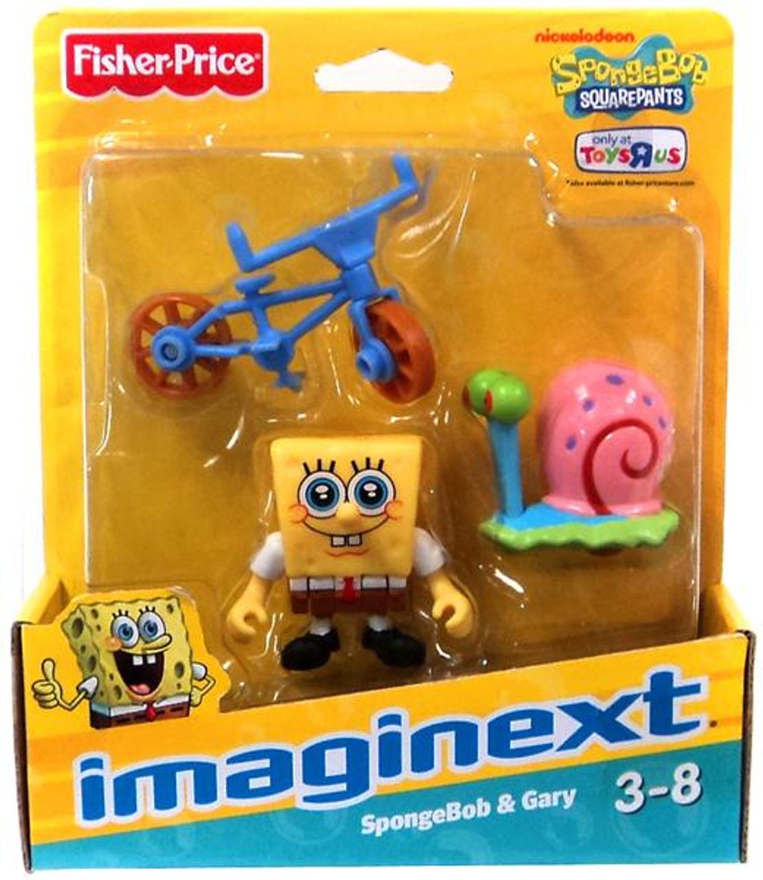 Fisher Price Spongebob Squarepants Imaginext SpongeBob & Gary the Snail Exclusive 2-Inch Mini Figure 2-Pack