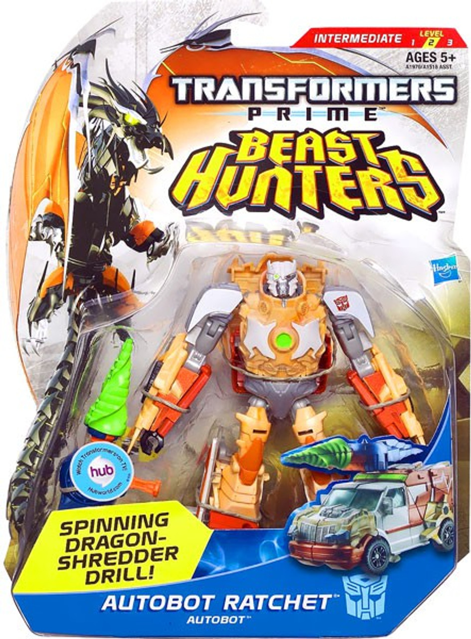Transformers Prime Beast Hunters Autobot Ratchet Deluxe Action Figure