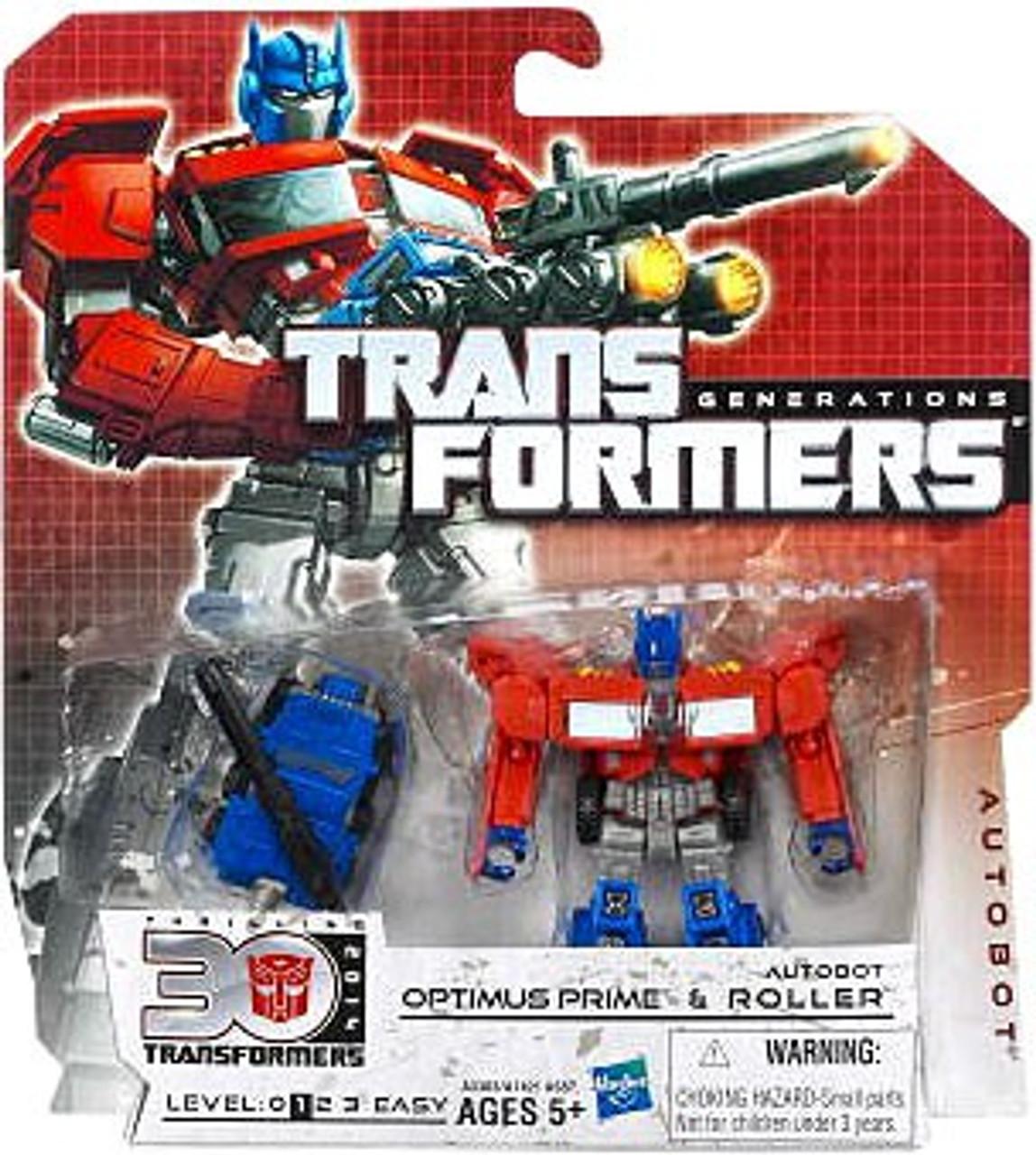 Transformers Generations 30th Anniversary Legends Optimus Prime & Autobot Roller Legend Action Figure 2-Pack