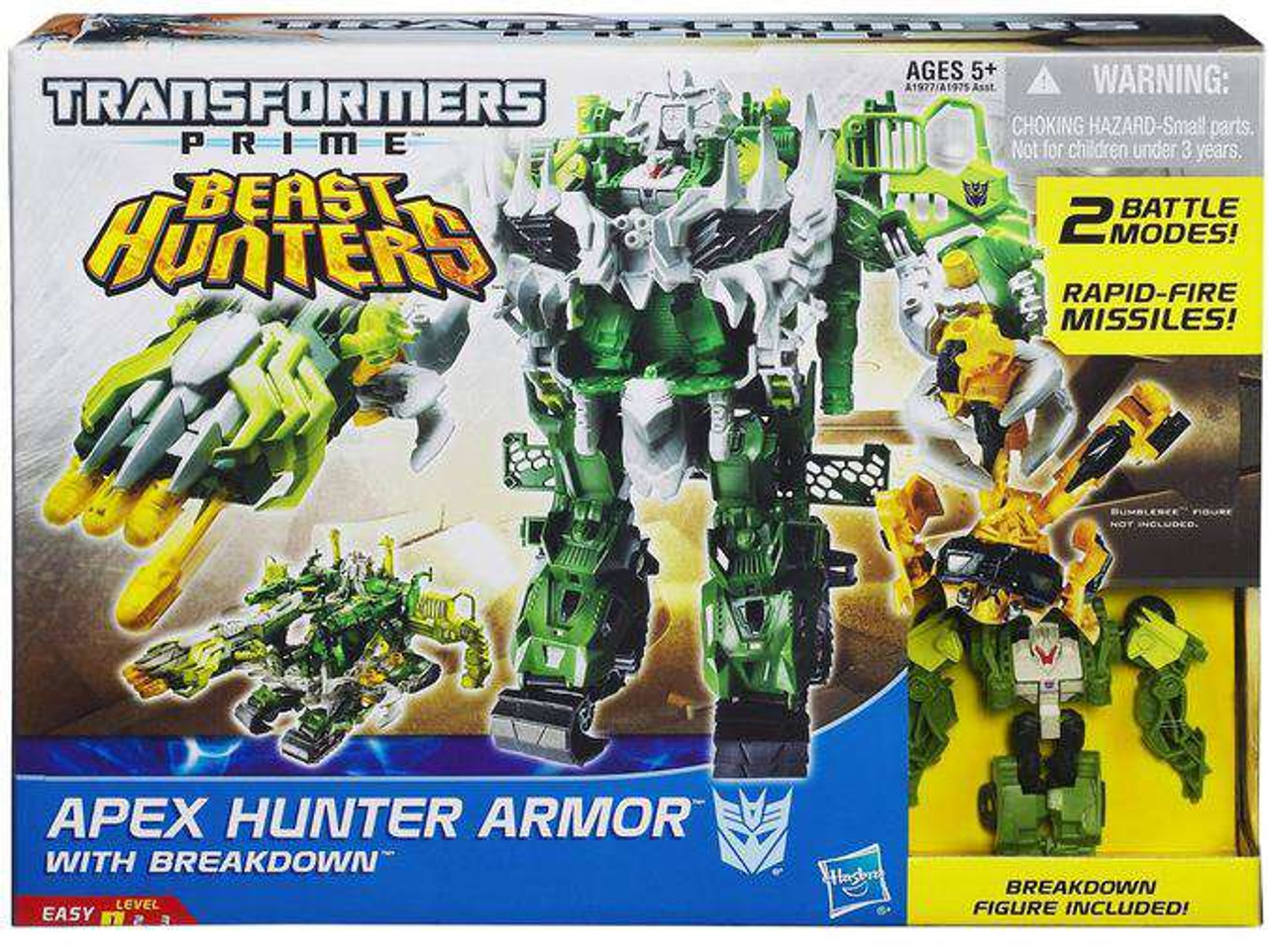 Transformers Prime Beast Hunters Apex Hunter Armor With Breakdown Action Figure Set