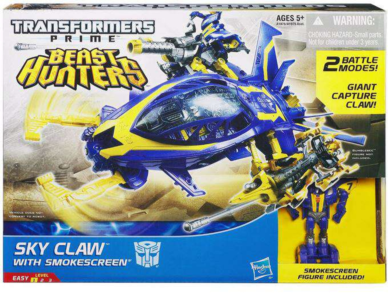 Transformers Prime Beast Hunters Sky Claw with Smokescreen Action Figure Set