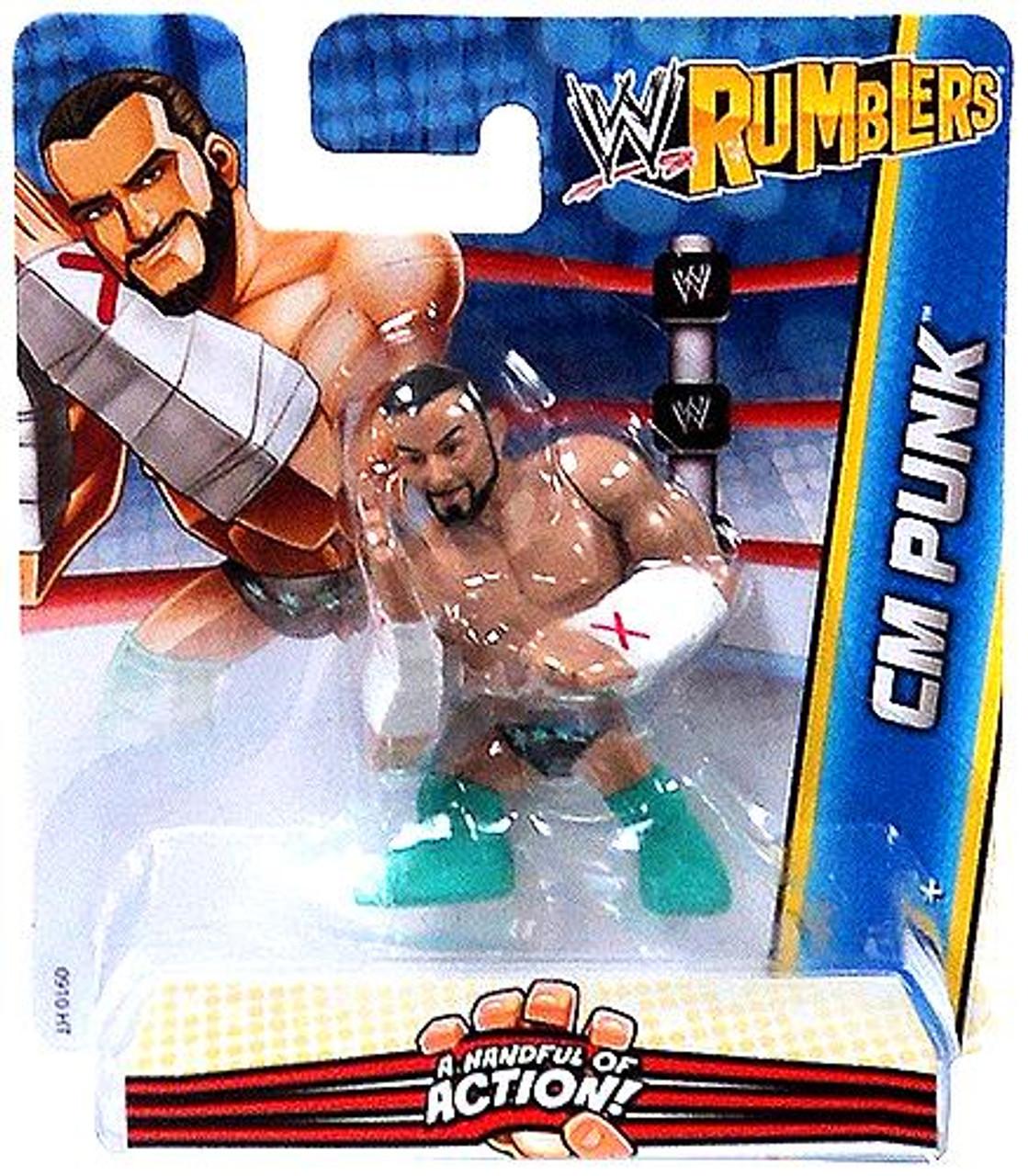 WWE Wrestling Rumblers Series 2 CM Punk Mini Figure [Aqua Boots]