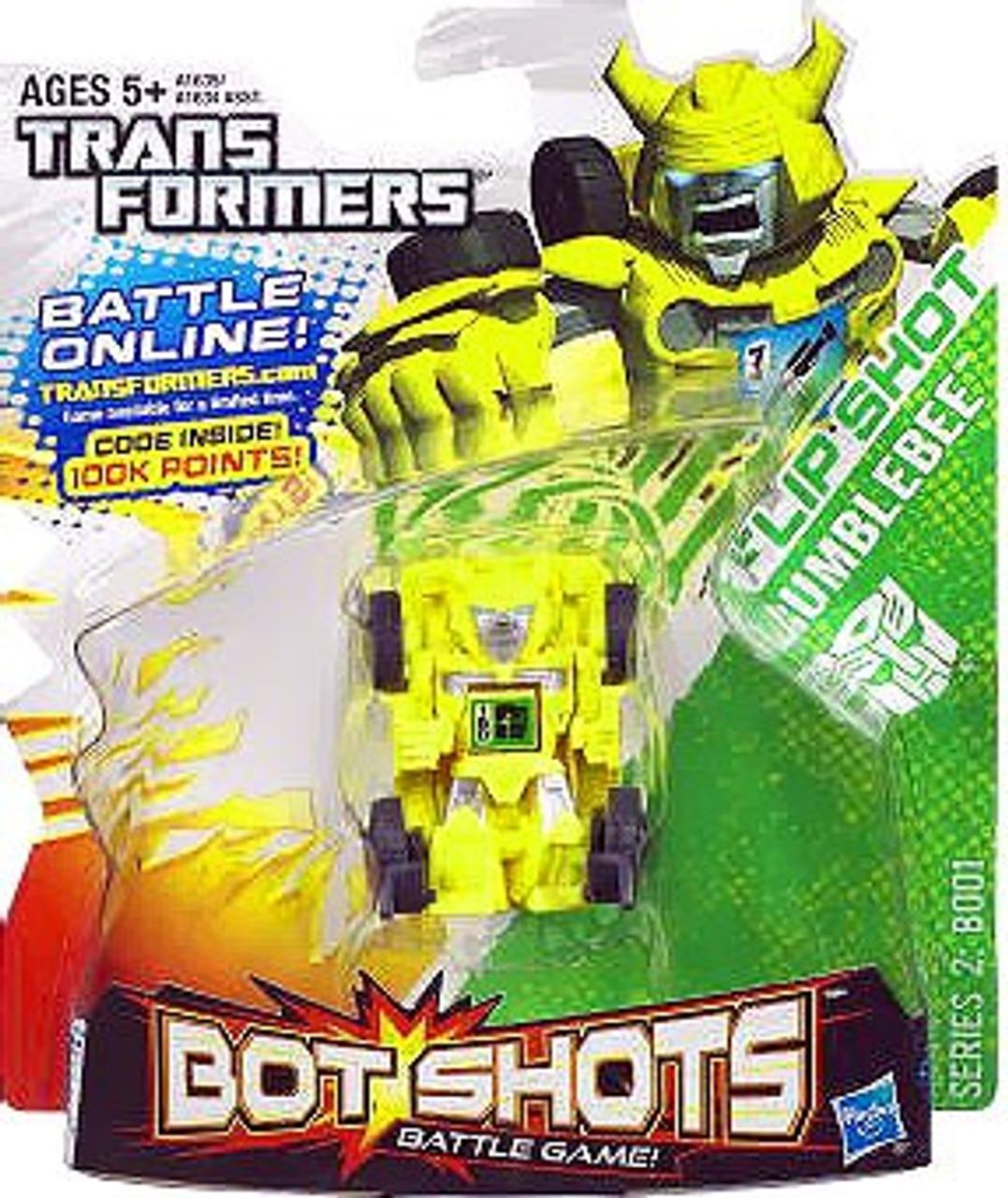 Transformers Bot Shots Battle Game Series 2 Flip Shot Bumblebee Action Figure