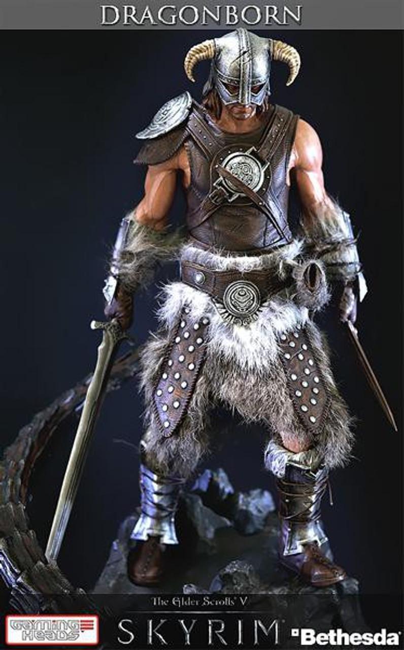 Elder Scrolls Skyrim Dragonborn 16-Inch Statue