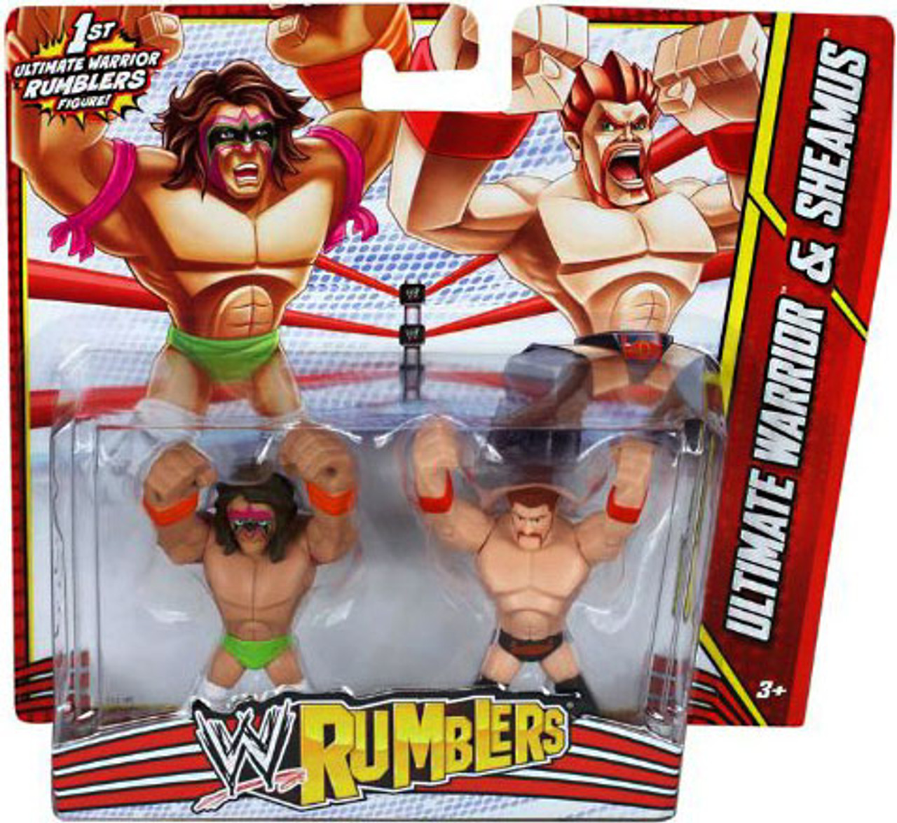 WWE Wrestling Rumblers Series 3 Ultimate Warrior & Sheamus Mini Figure 2-Pack