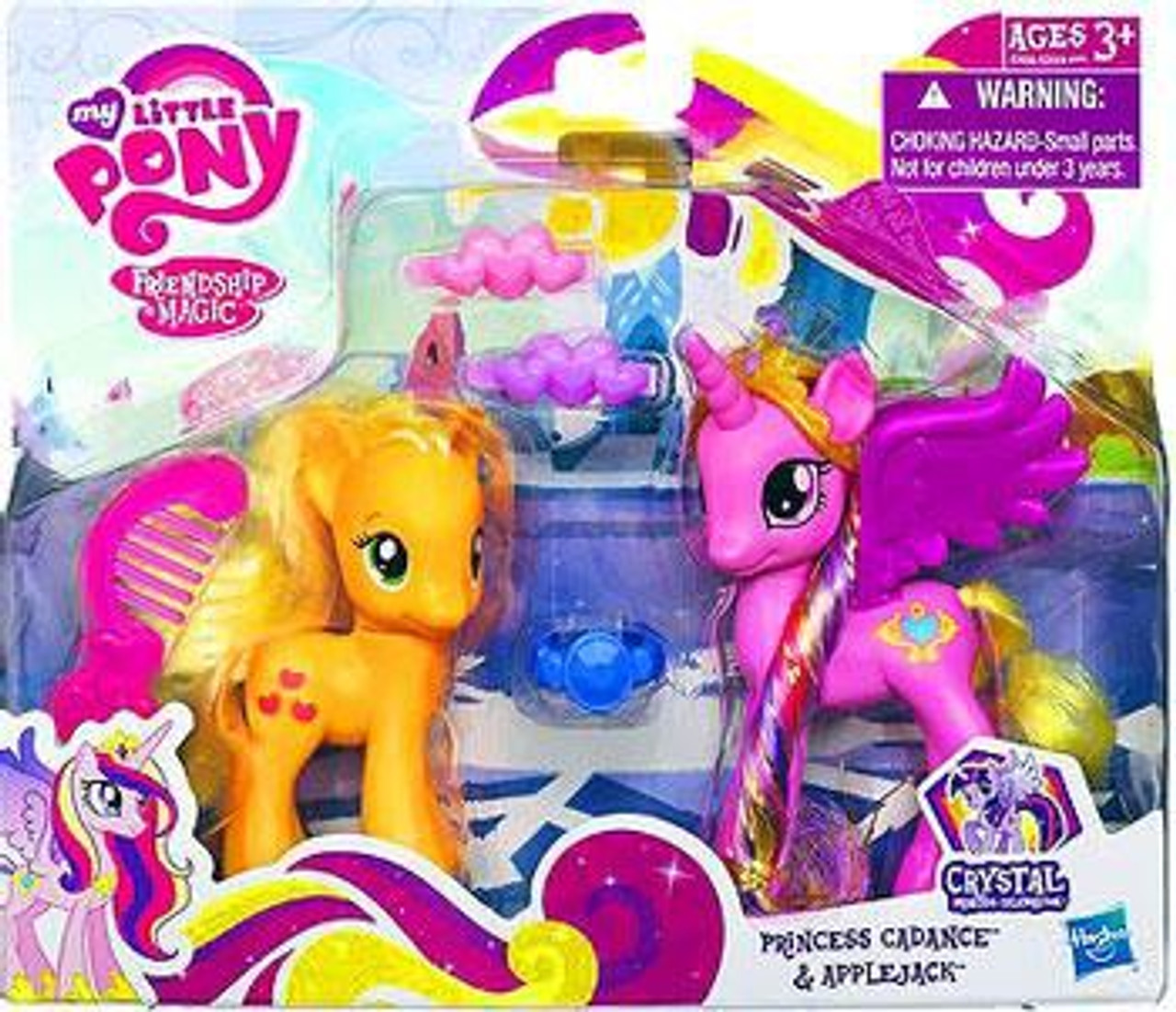My Little Pony Friendship is Magic Crystal Empire Princess Cadance & Applejack Figure 2-Pack