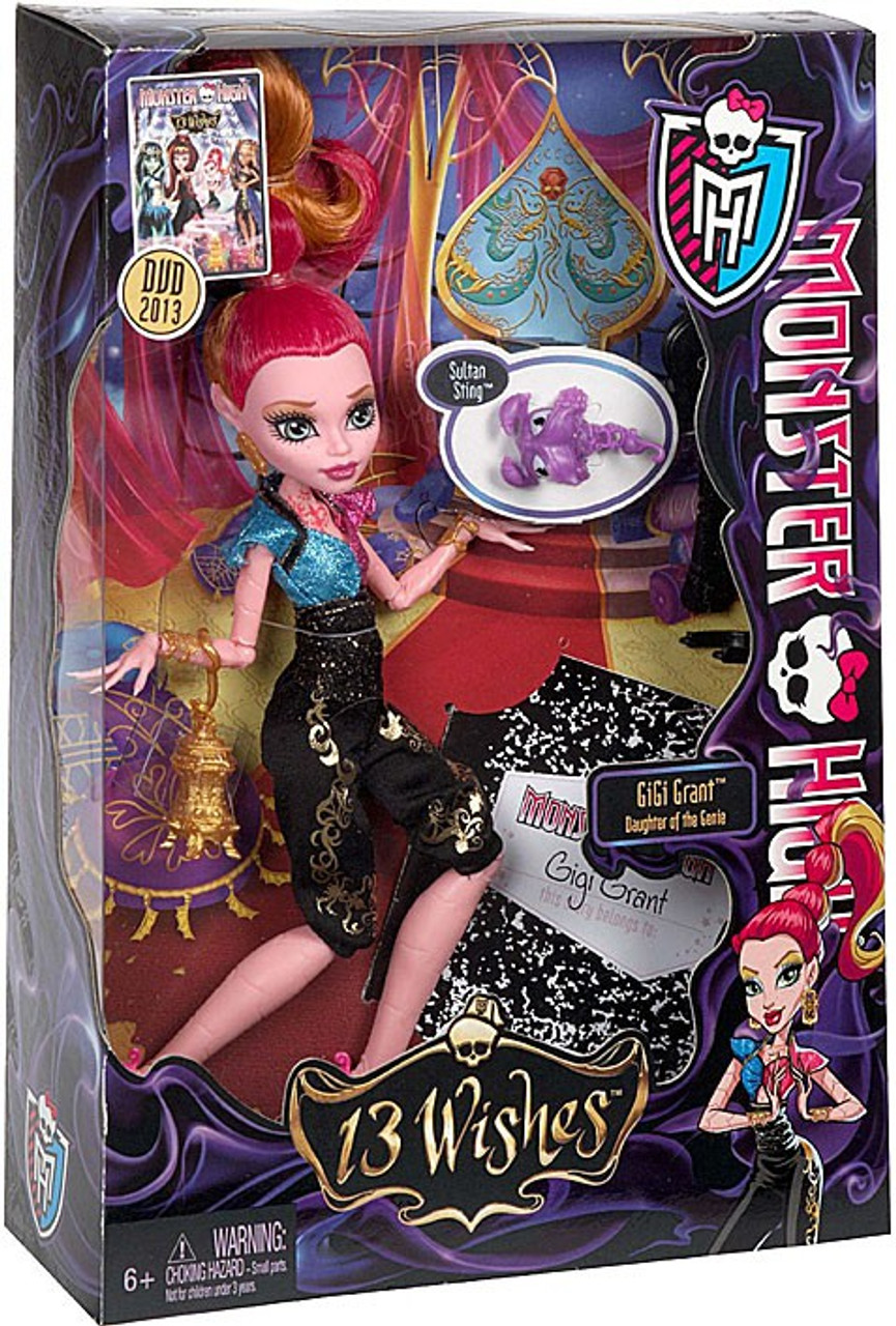 Monster High 13 Wishes Gigi Grant 10.5-Inch Doll