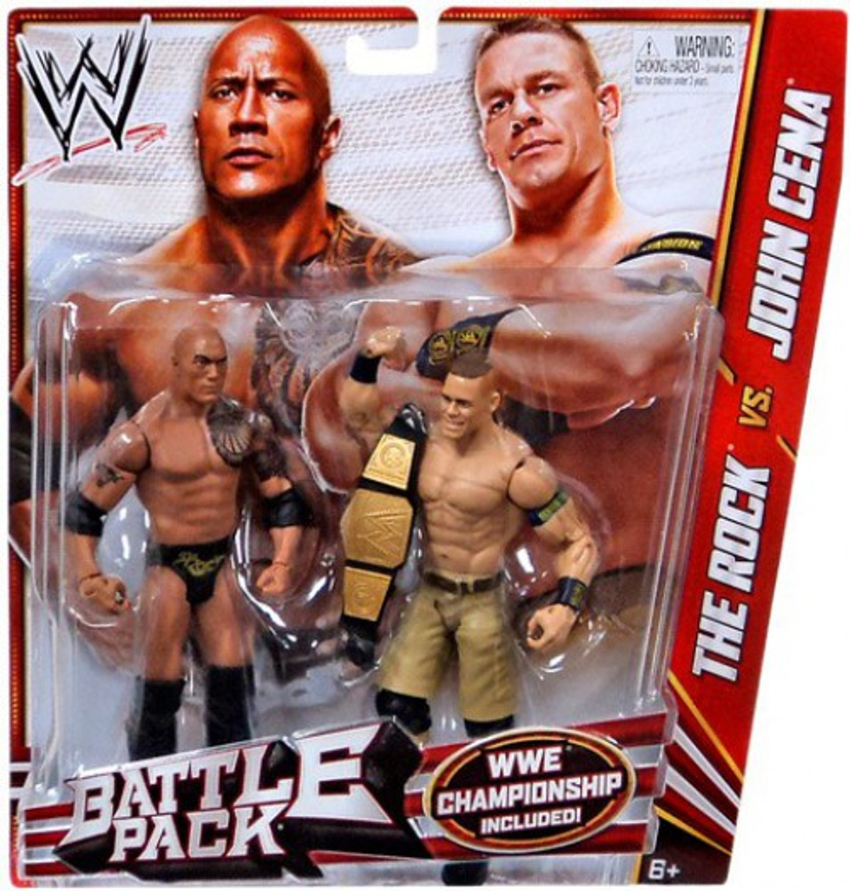 WWE Wrestling Series 24 The Rock vs. John Cena Action Figure 2-Pack [WWE Championship]