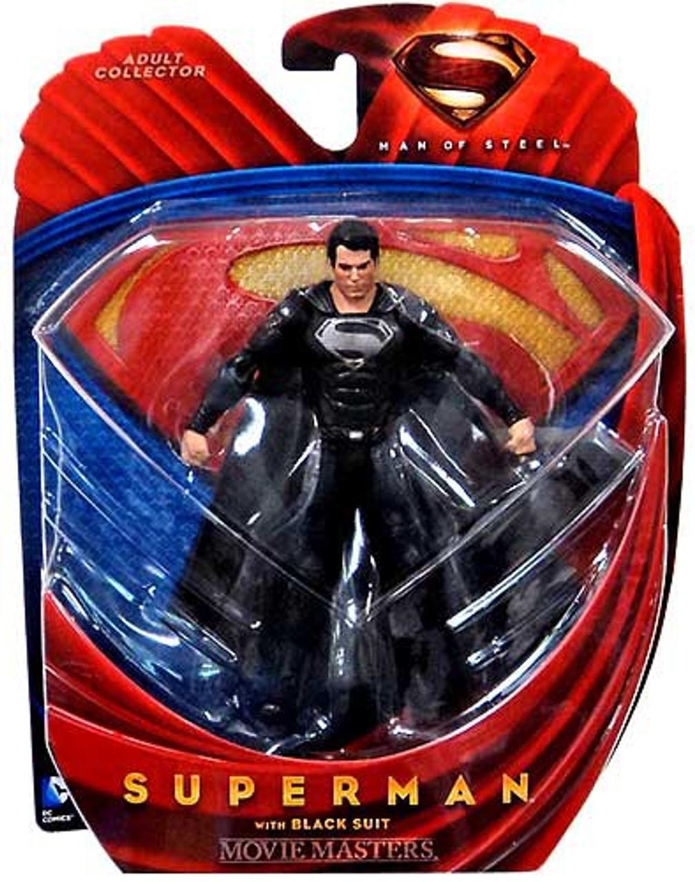 Man of Steel Movie Masters Superman Action Figure [Black Suit]