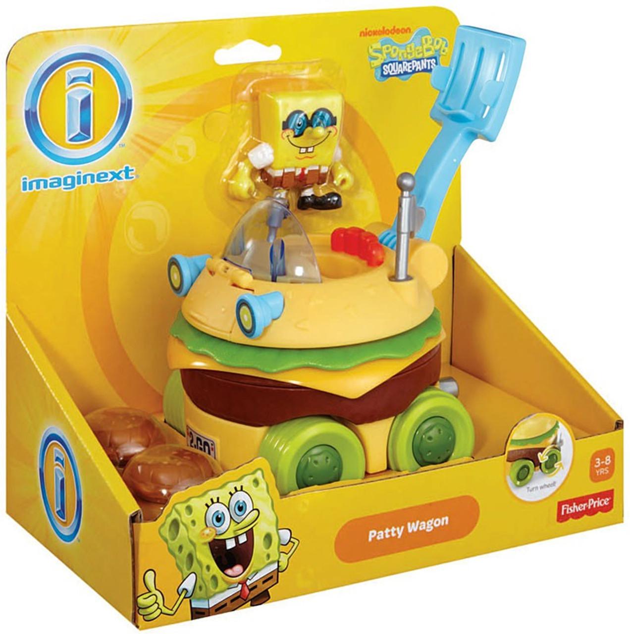 Fisher Price Spongebob Squarepants Imaginext Patty Wagon 2-Inch Vehicle Set