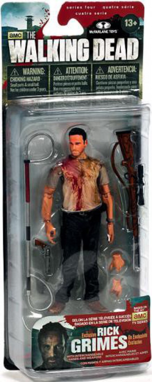 McFarlane Toys Walking Dead AMC TV Series 4 Deputy Rick Grimes Exclusive Action Figure [Bloody]