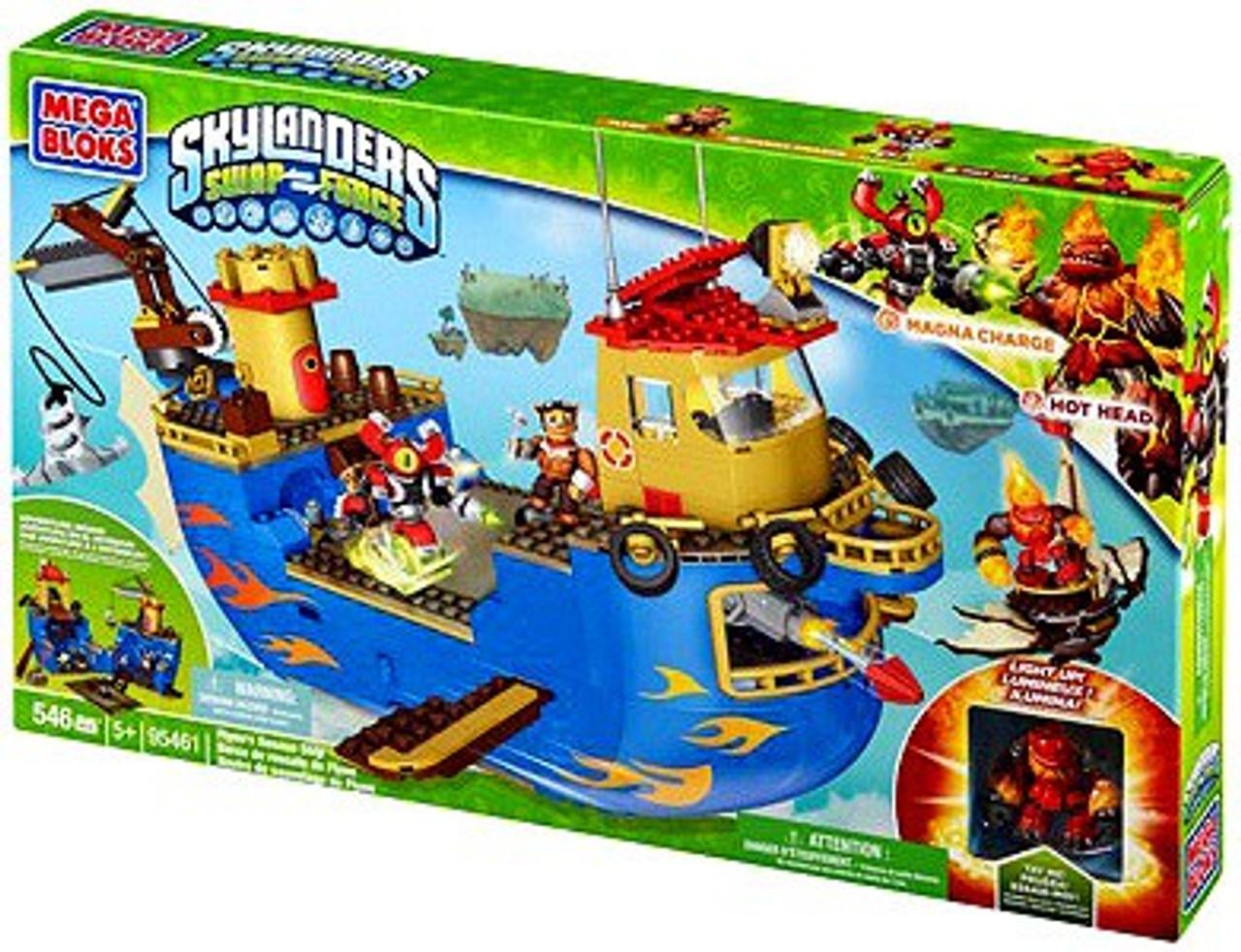 Mega Bloks Skylanders Swap Force Flynn's Rescue Ship Set #95461