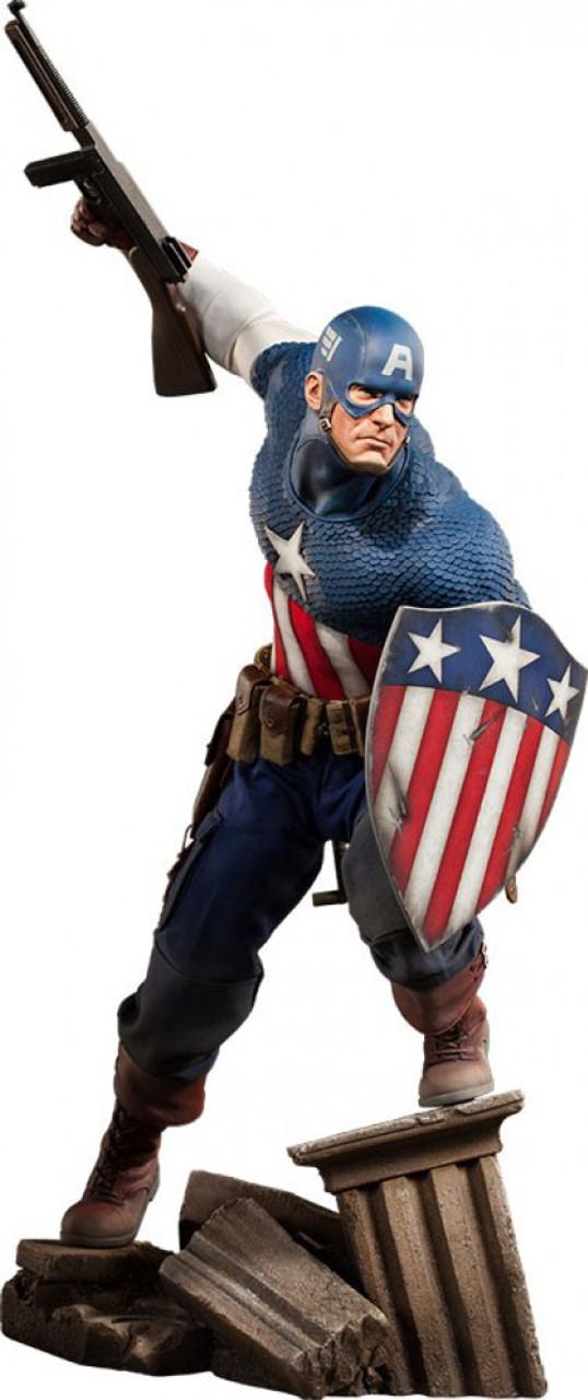 Marvel Premium Format Polystone Captain America Statue