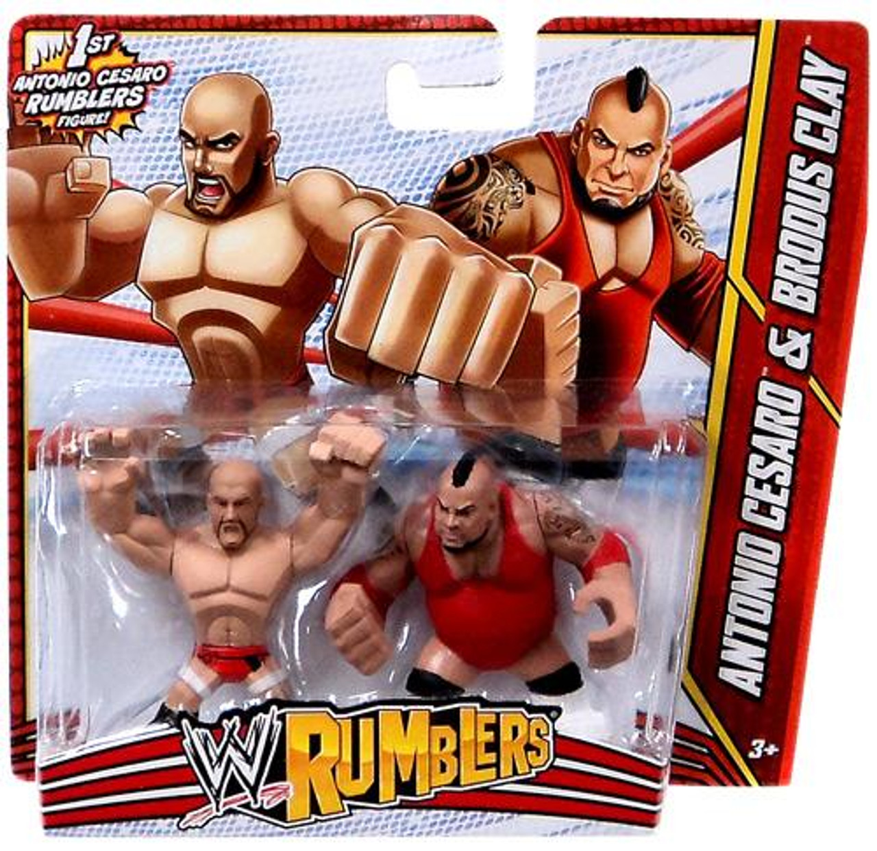 WWE Wrestling Rumblers Series 3 Antonio Cesaro & Brodus Clay Mini Figure 2-Pack