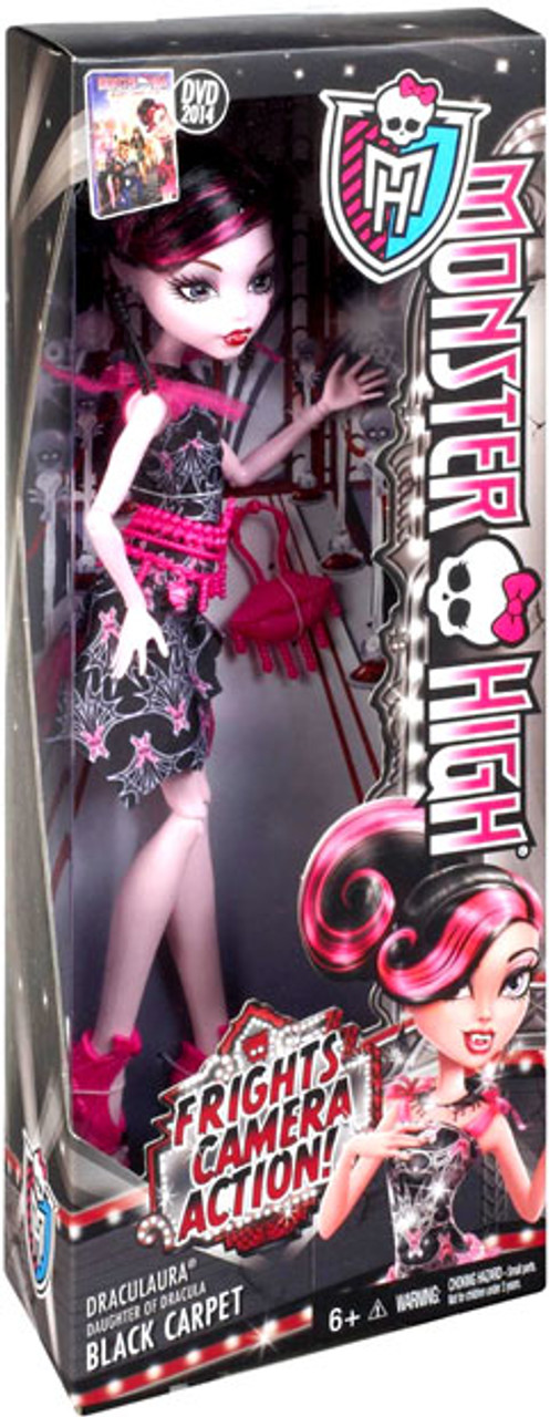 Monster High Frights, Camera, Action Black Carpet Draculaura 10.5-Inch Doll [Black Carpet]