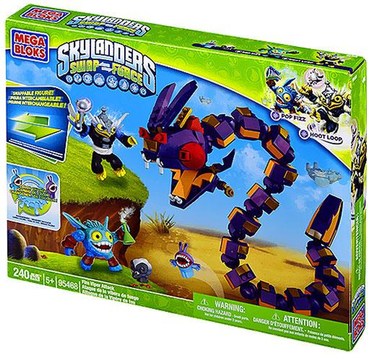 Mega Bloks Skylanders Swap Force Fire Viper Attack Exclusive Set #95468