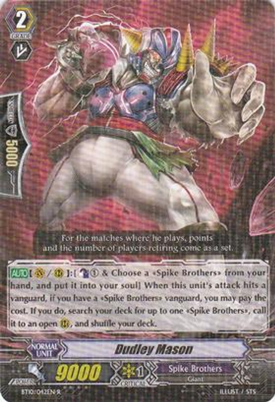 Cardfight Vanguard Triumphant Return of the King of Knights Rare Dudley Mason BT10/042