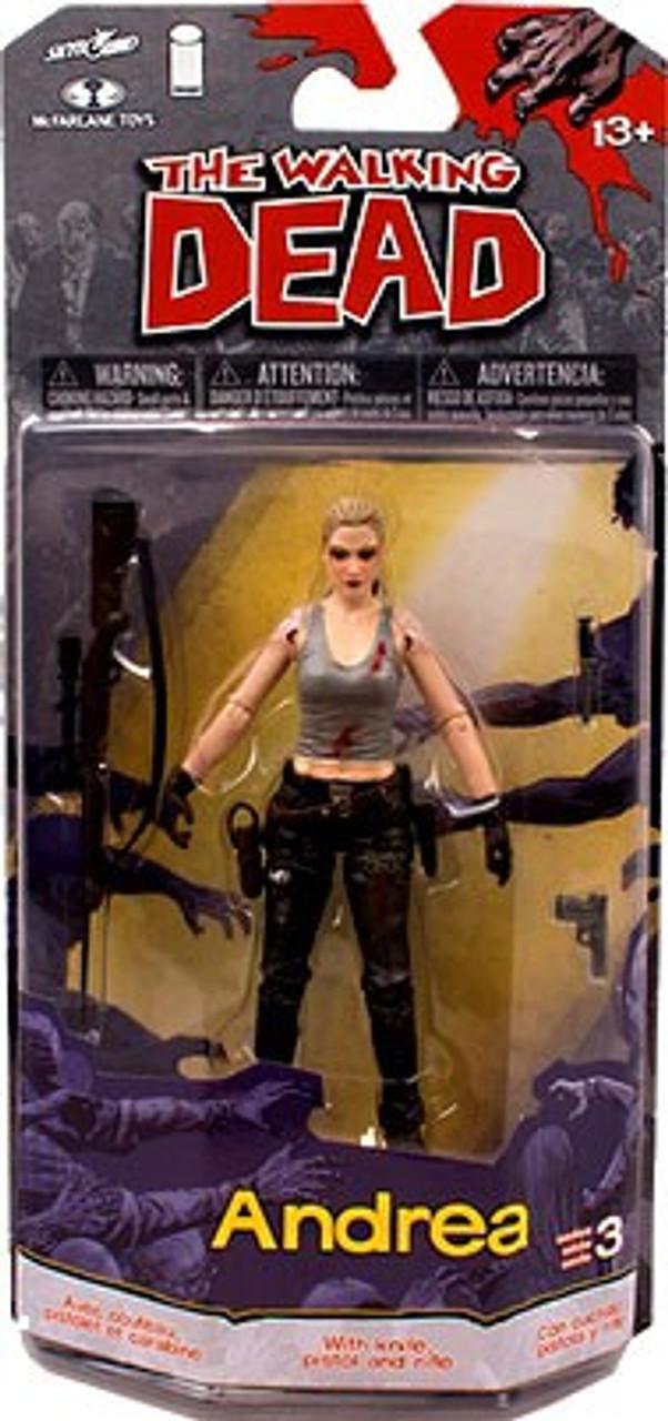 McFarlane Toys Walking Dead Comic Series 3 Andrea Action Figure