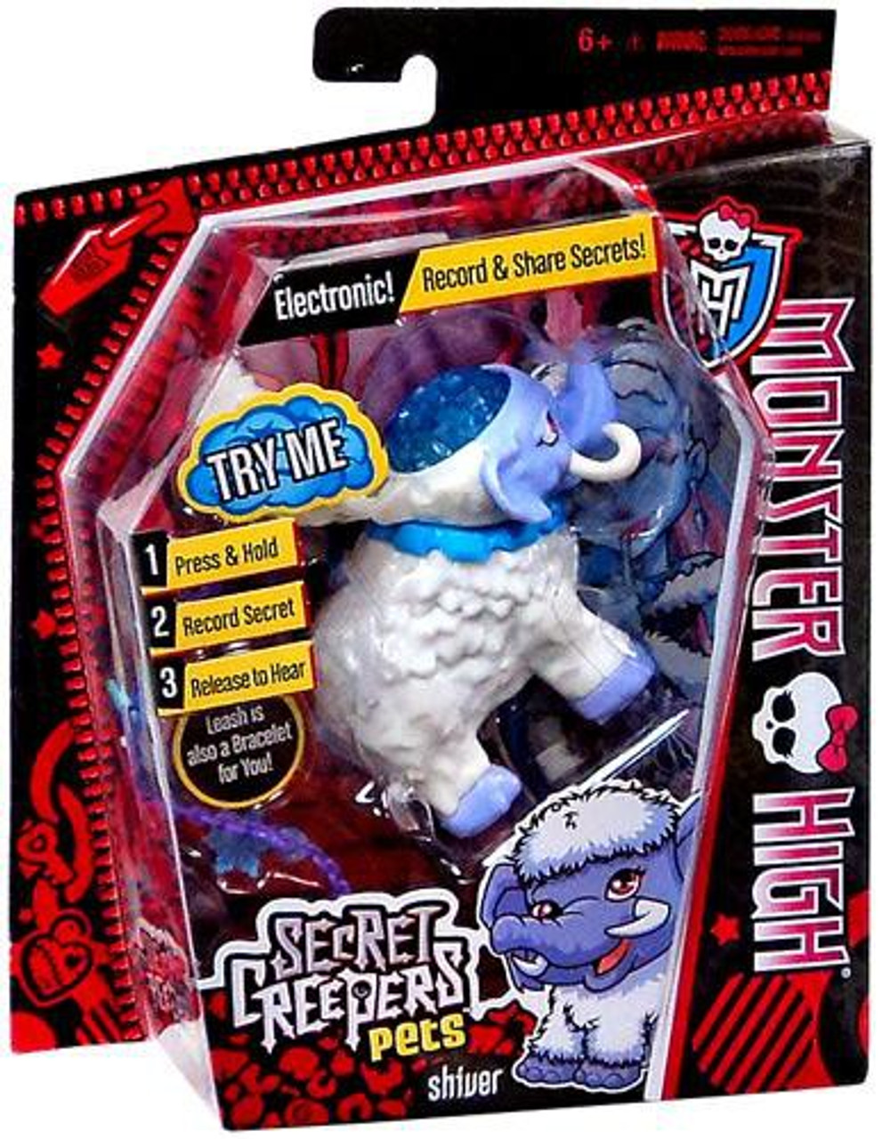 Monster High Secret Creepers Critters Shiver Figure
