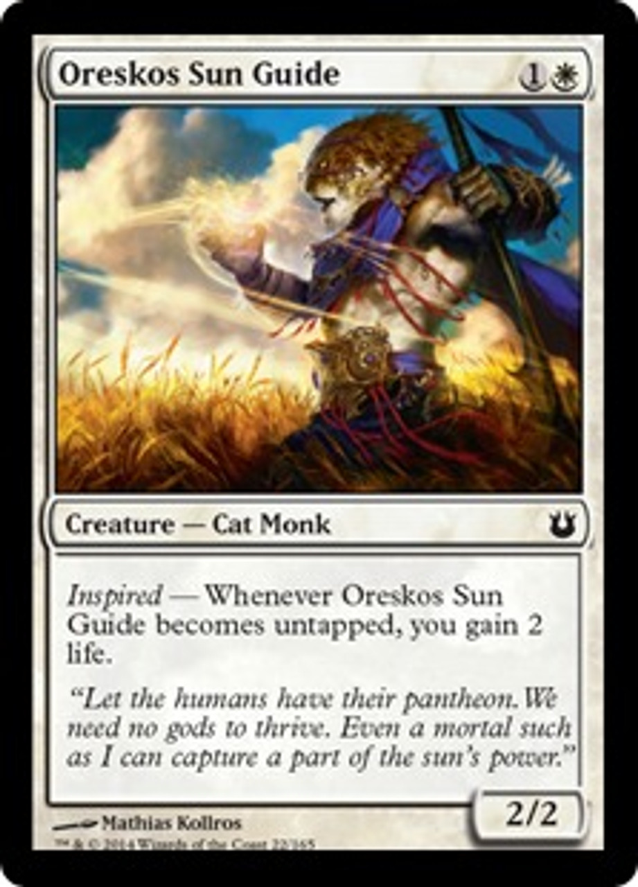 MtG Born of the Gods Common Oreskos Sun Guide #22