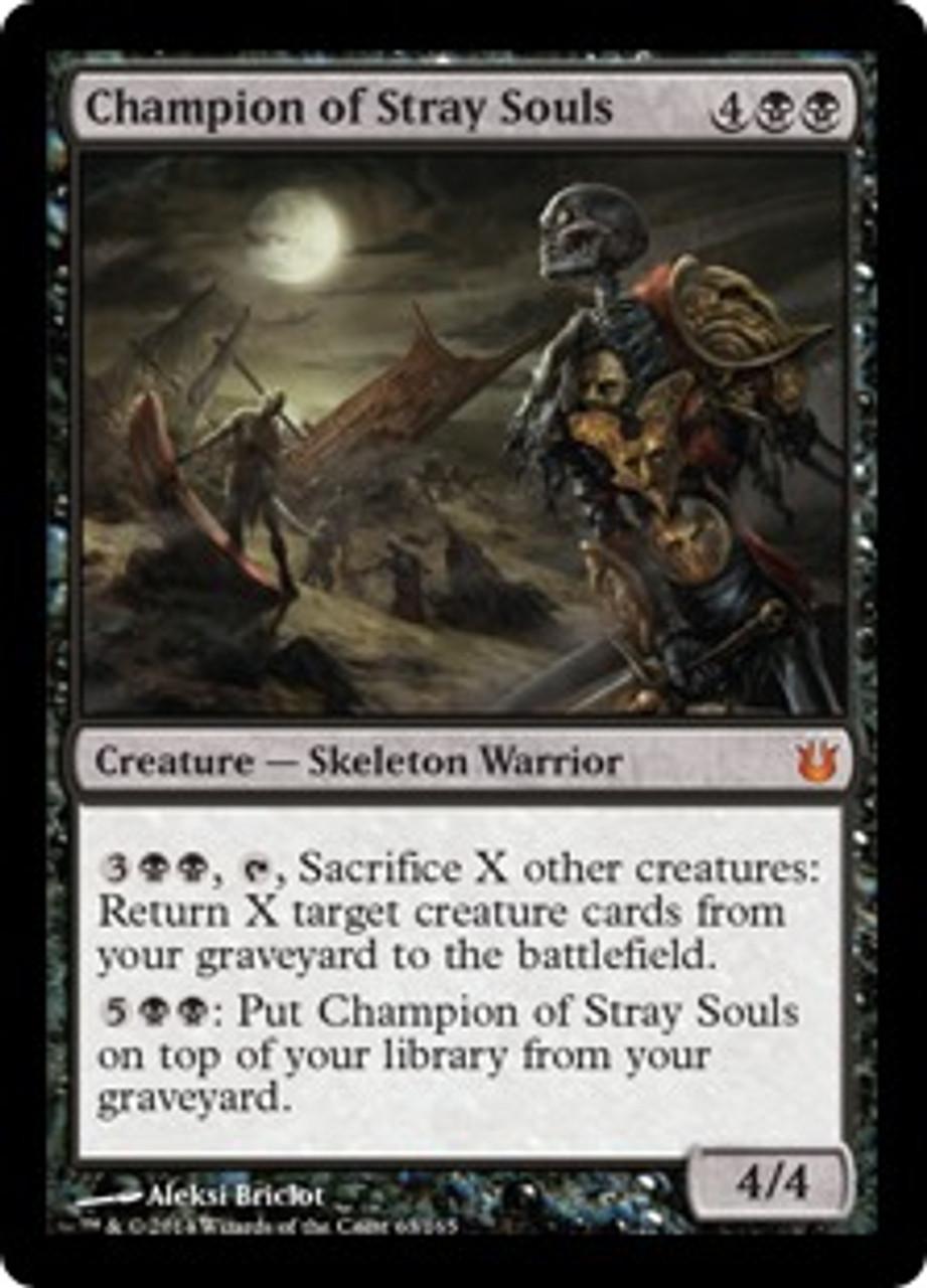 MtG Born of the Gods Mythic Rare Champion of Stray Souls #63