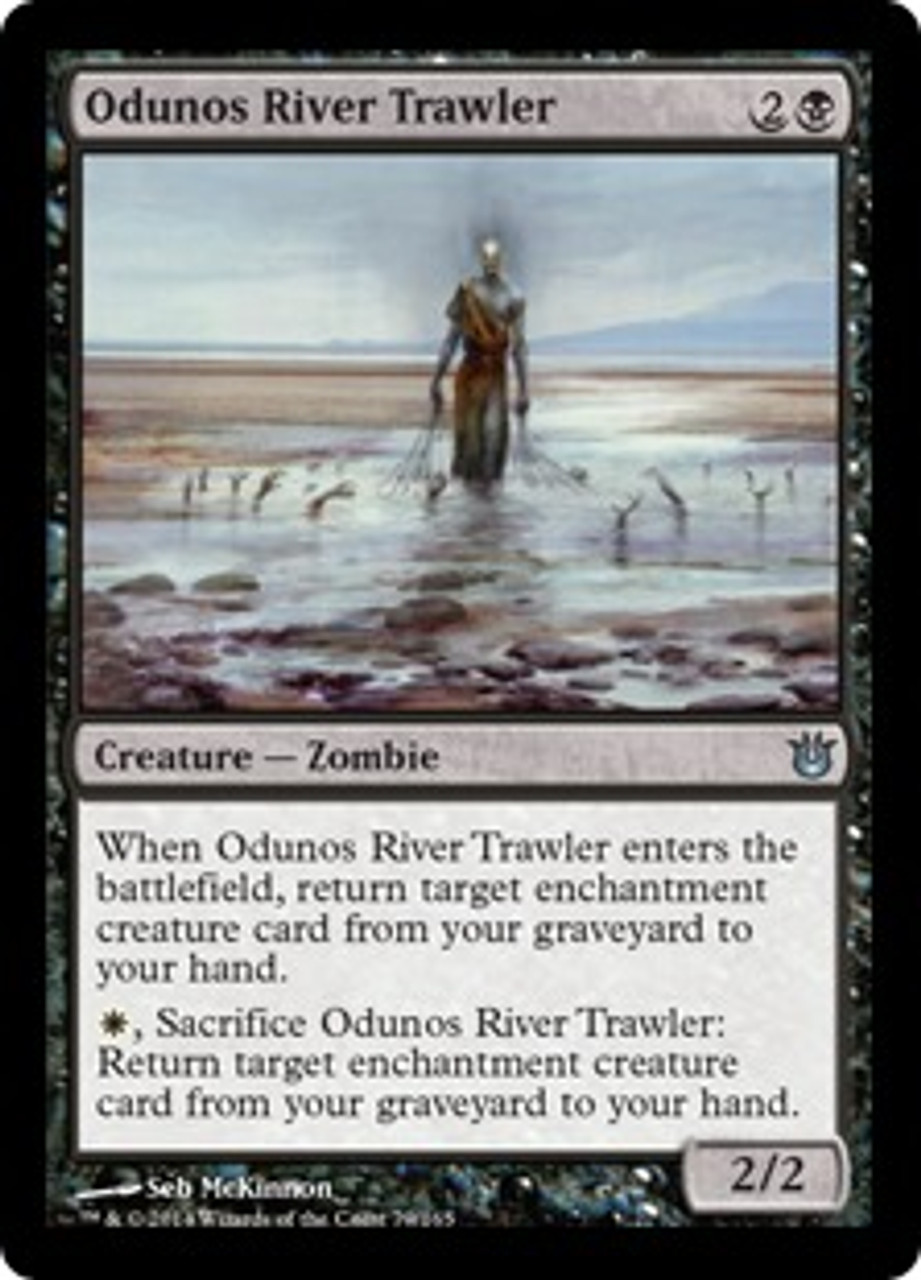 MtG Born of the Gods Uncommon Odunos River Trawler #79