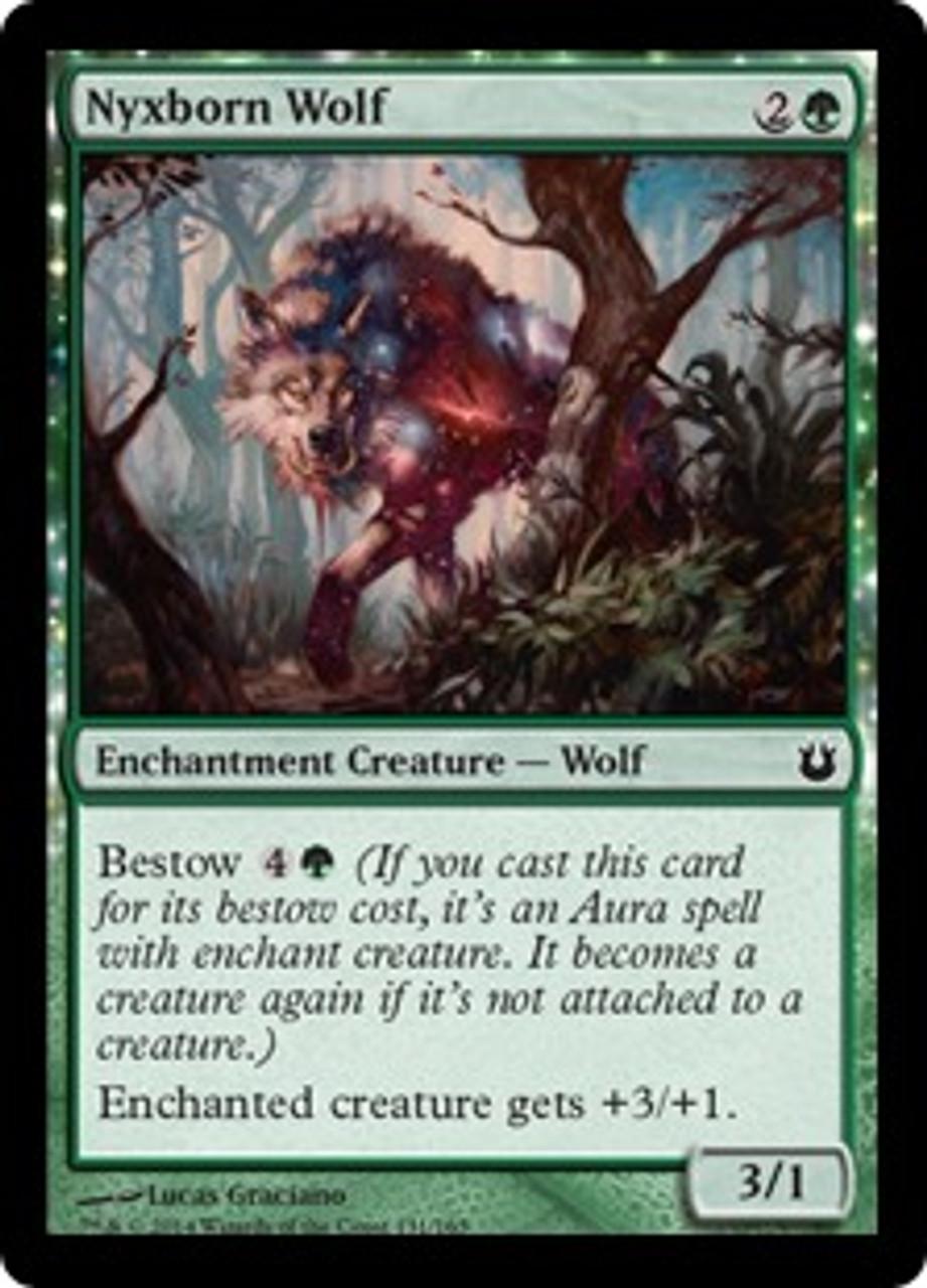 MtG Born of the Gods Common Nyxborn Wolf #131